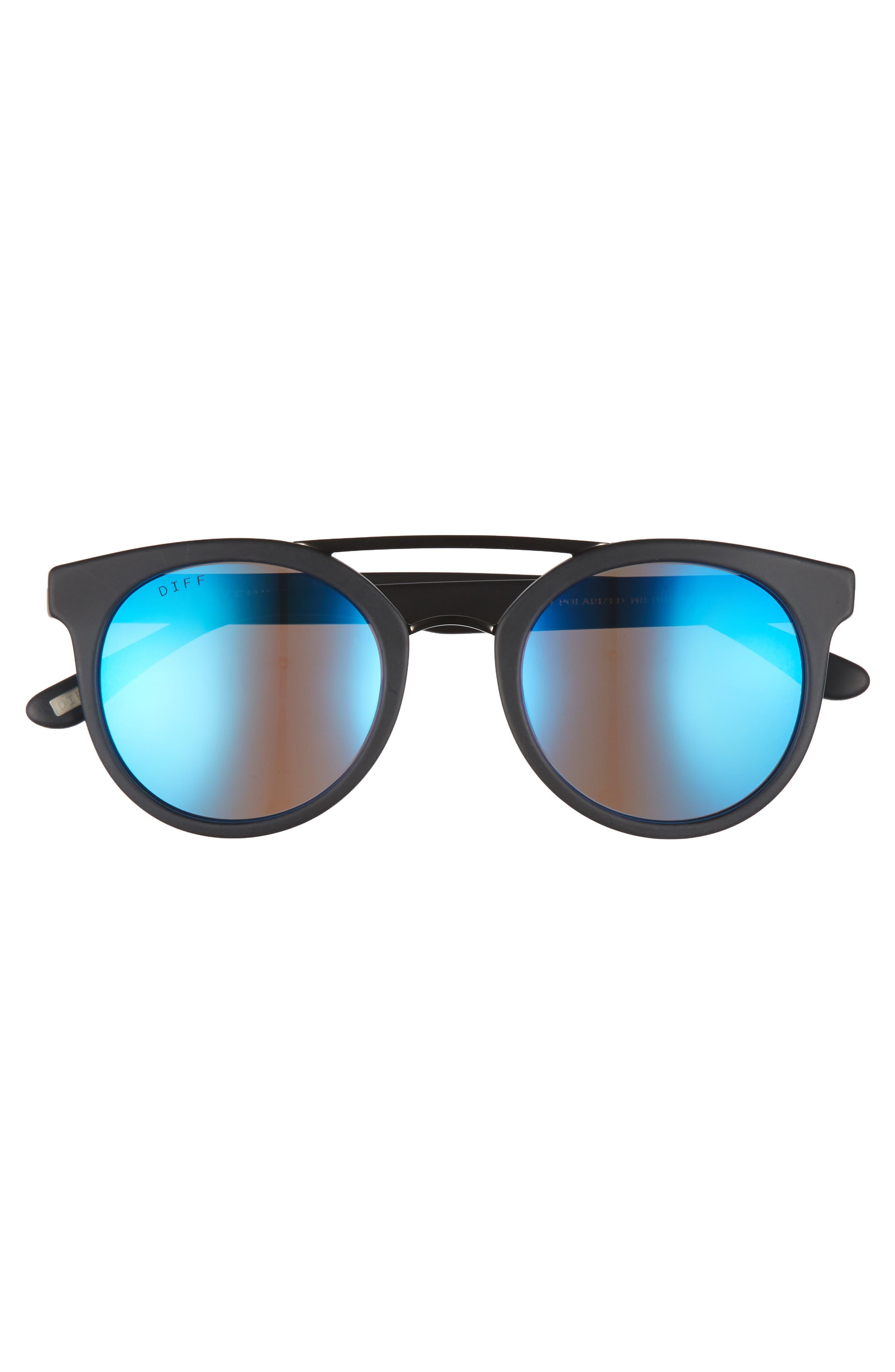 Astro 49mm Polarized Aviator Sunglasses,                             Alternate thumbnail 3, color,                             004