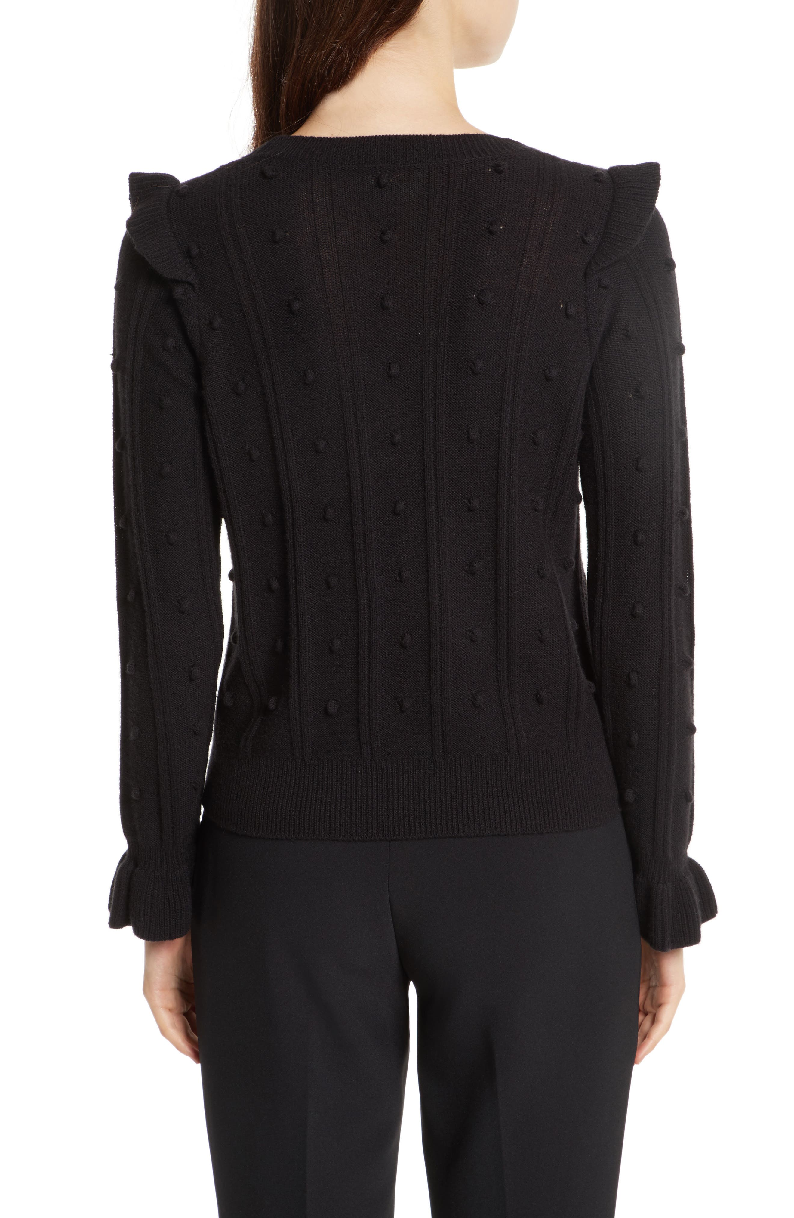 poppy embroidered sweater,                             Alternate thumbnail 2, color,                             001