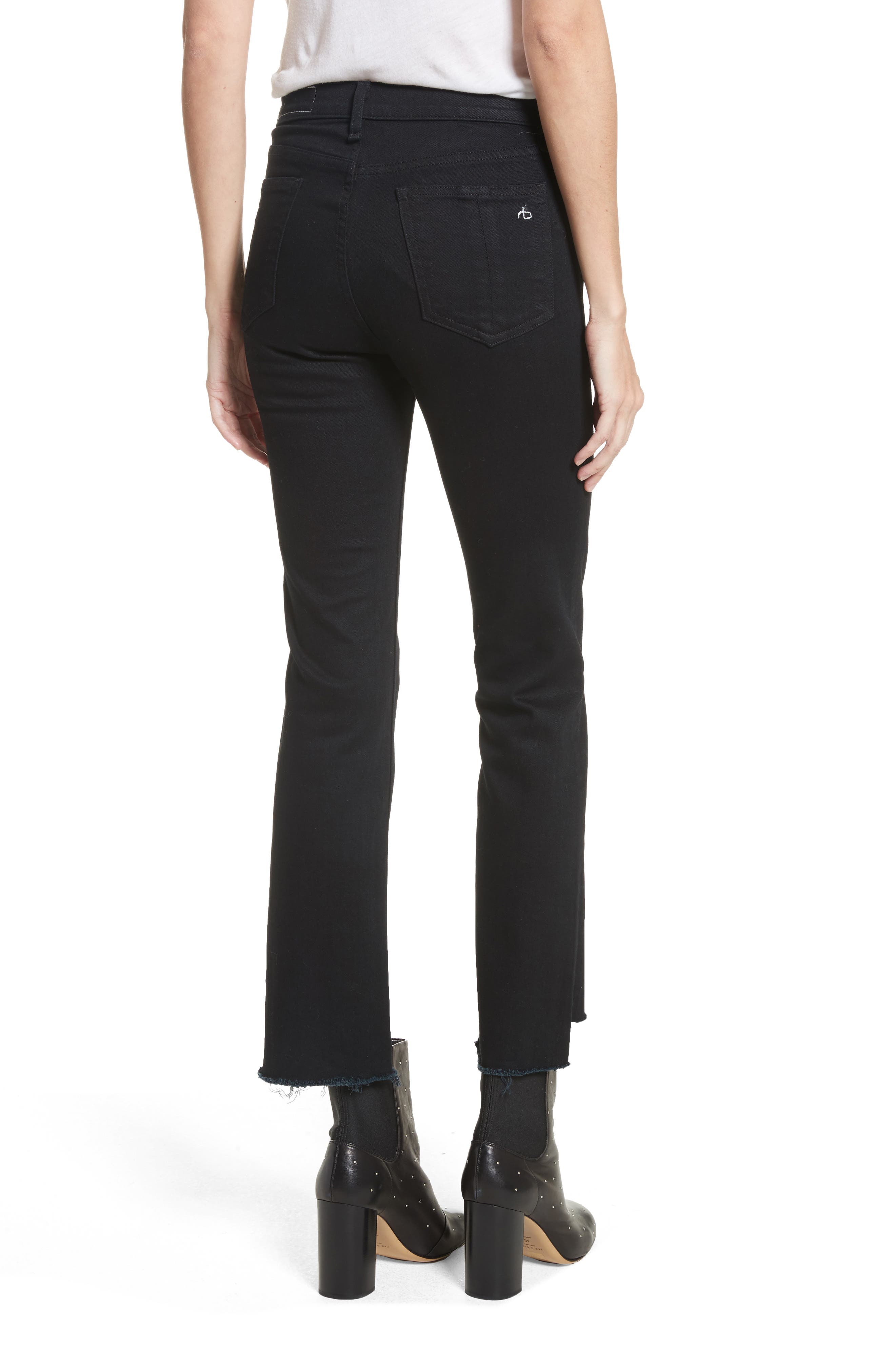 High Waist Stovepipe Jeans,                             Alternate thumbnail 2, color,                             001