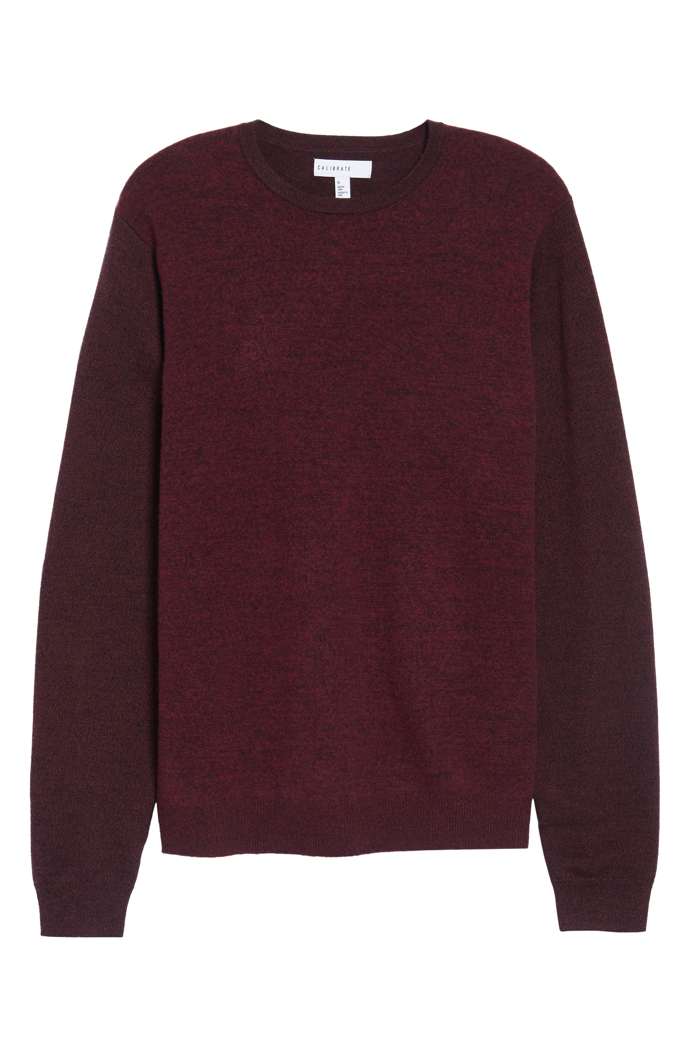 Boiled Wool Blend Crewneck Sweater,                             Alternate thumbnail 6, color,