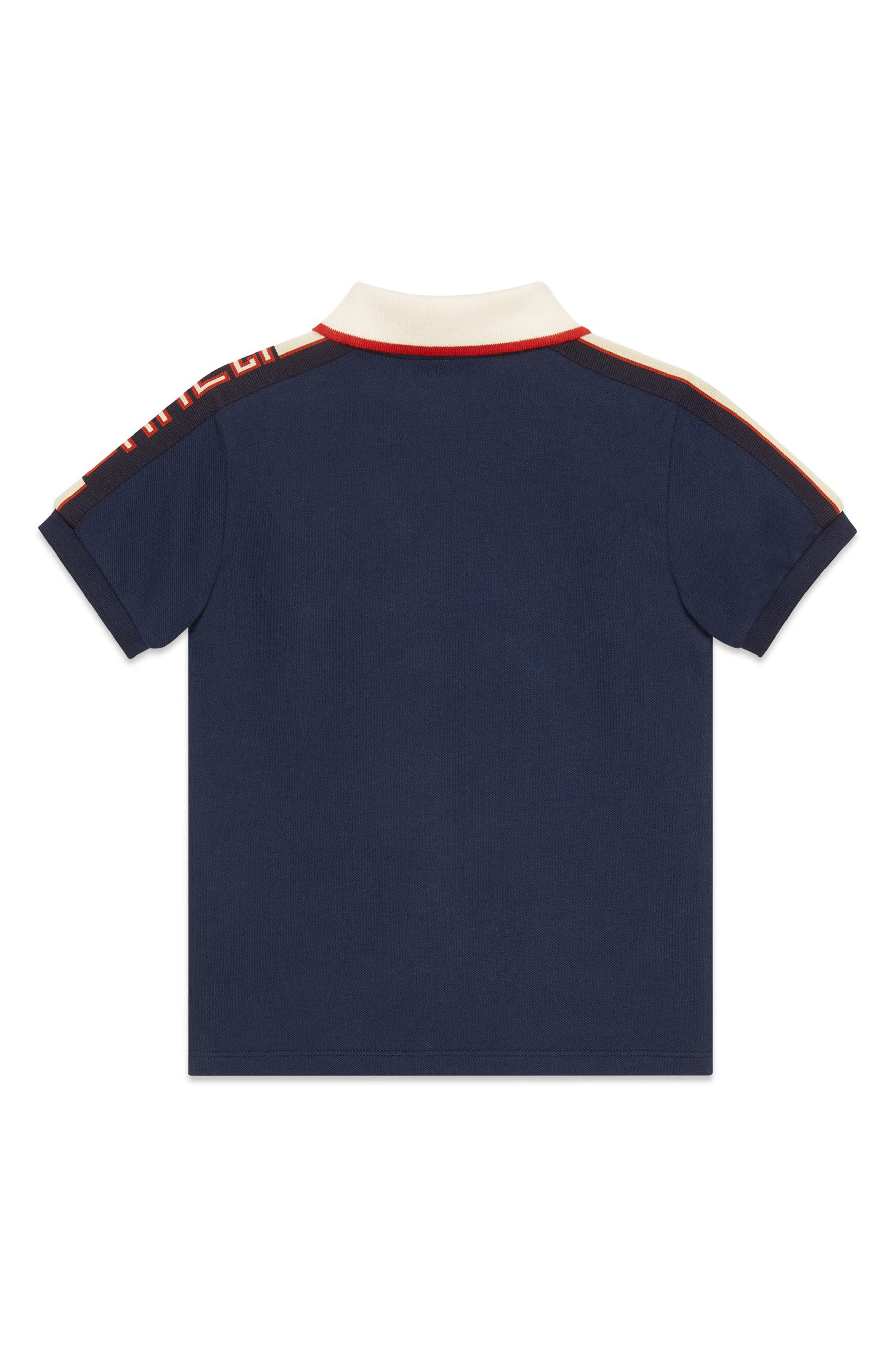 Stripe Cotton Piqué Polo Shirt,                             Alternate thumbnail 2, color,                             OLTREMARE/ MULTICOLOR
