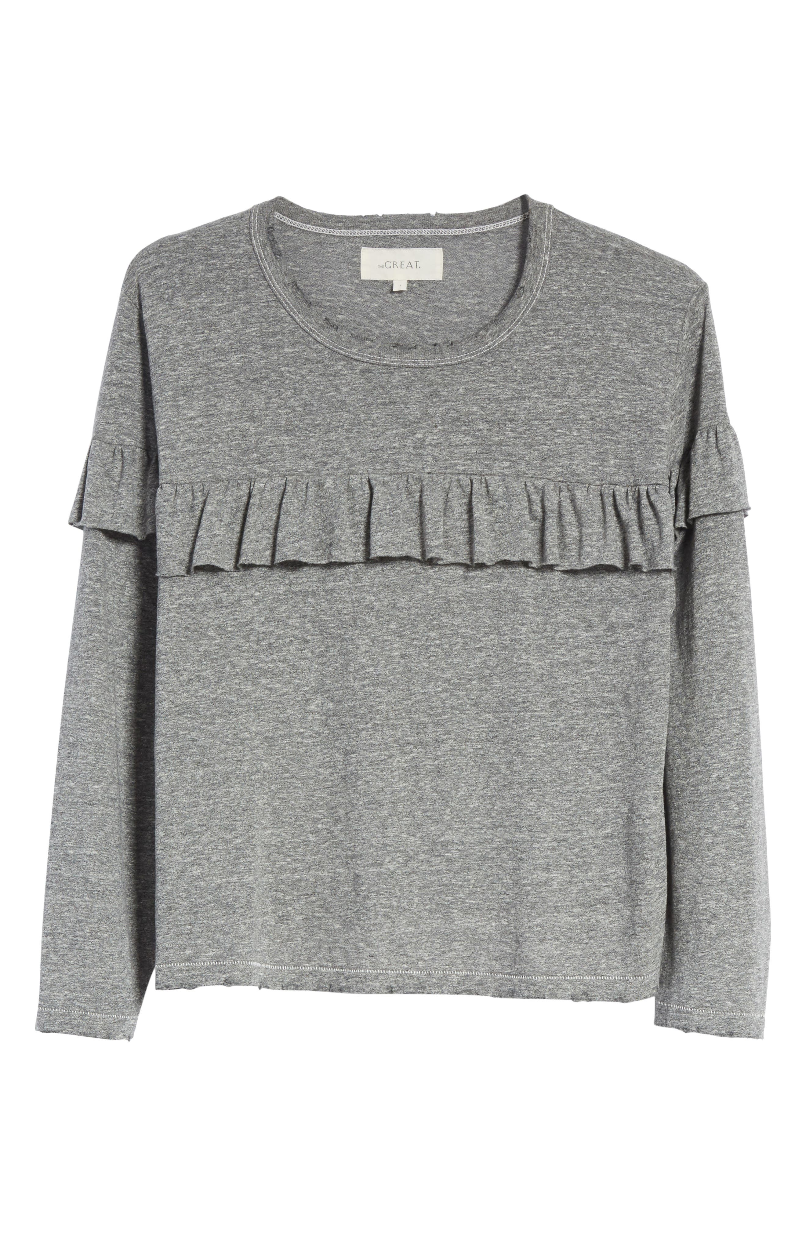 The Ruffle Yoke Tee,                             Alternate thumbnail 6, color,                             023