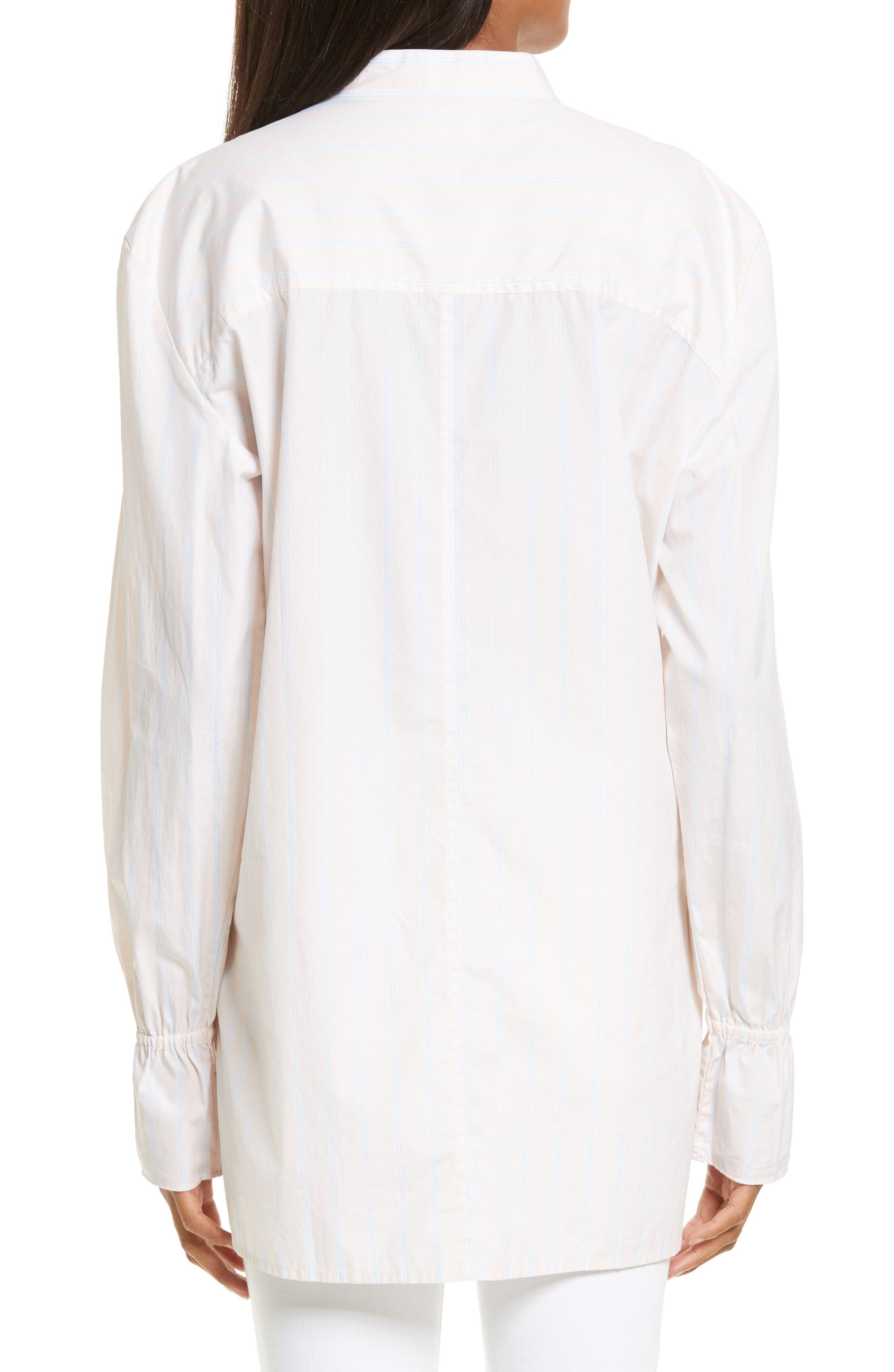 Ruffle Cuff Cotton Shirt,                             Alternate thumbnail 2, color,