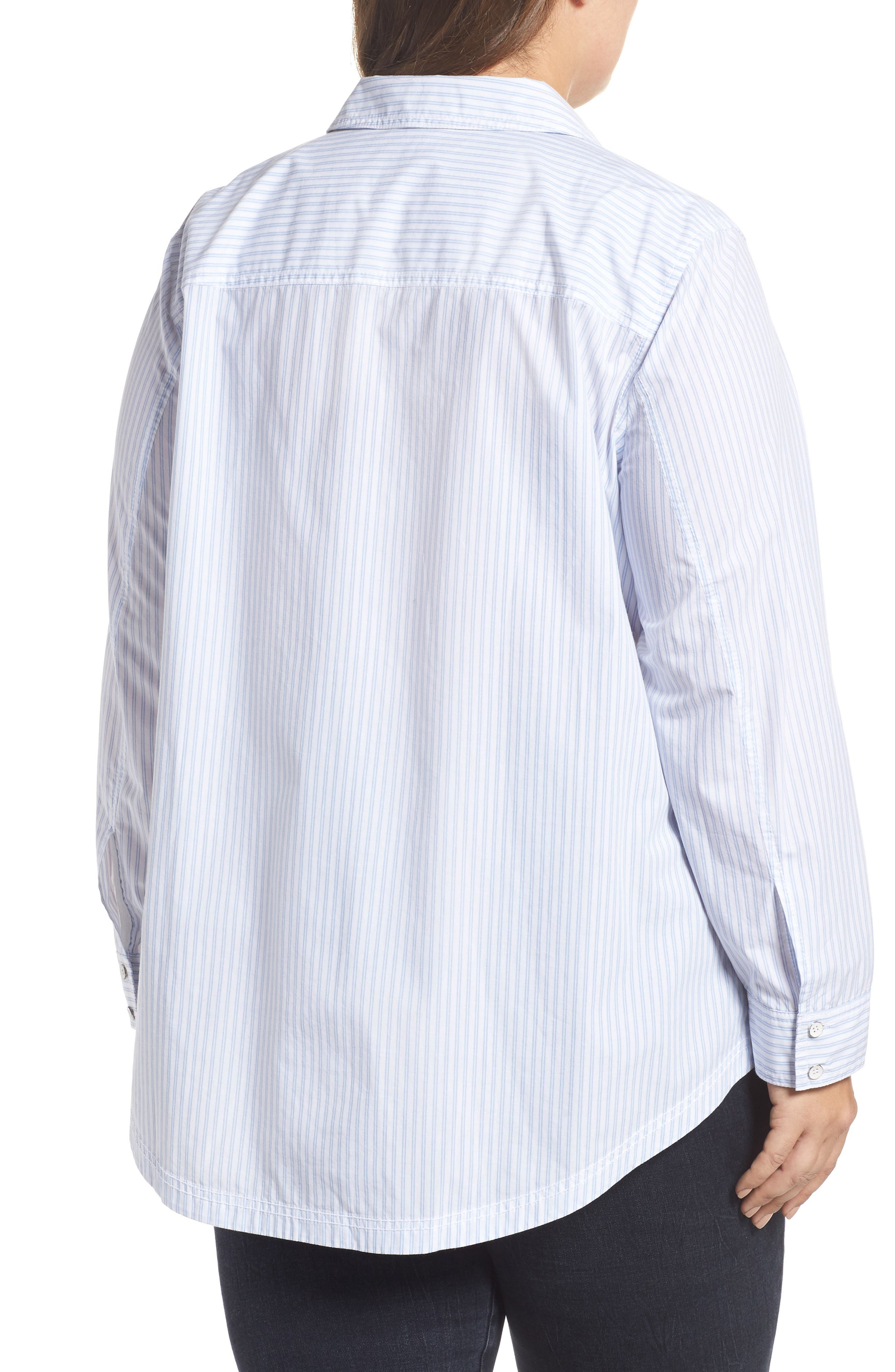 Stripe Button Front Shirt,                             Alternate thumbnail 2, color,                             420