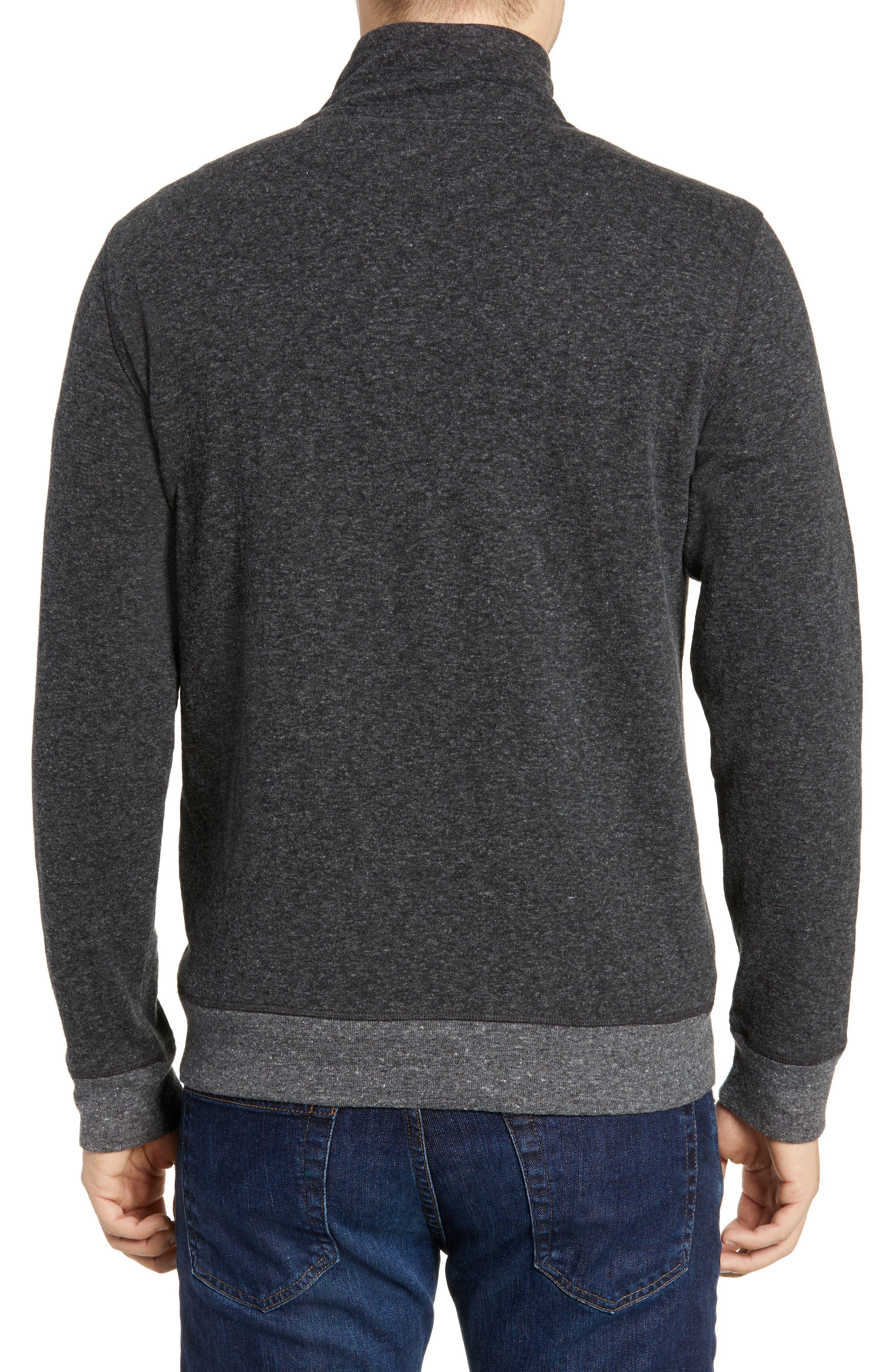 Dual Knit Regular Fit Quarter Zip Pullover,                             Alternate thumbnail 2, color,                             WASHED BLACK