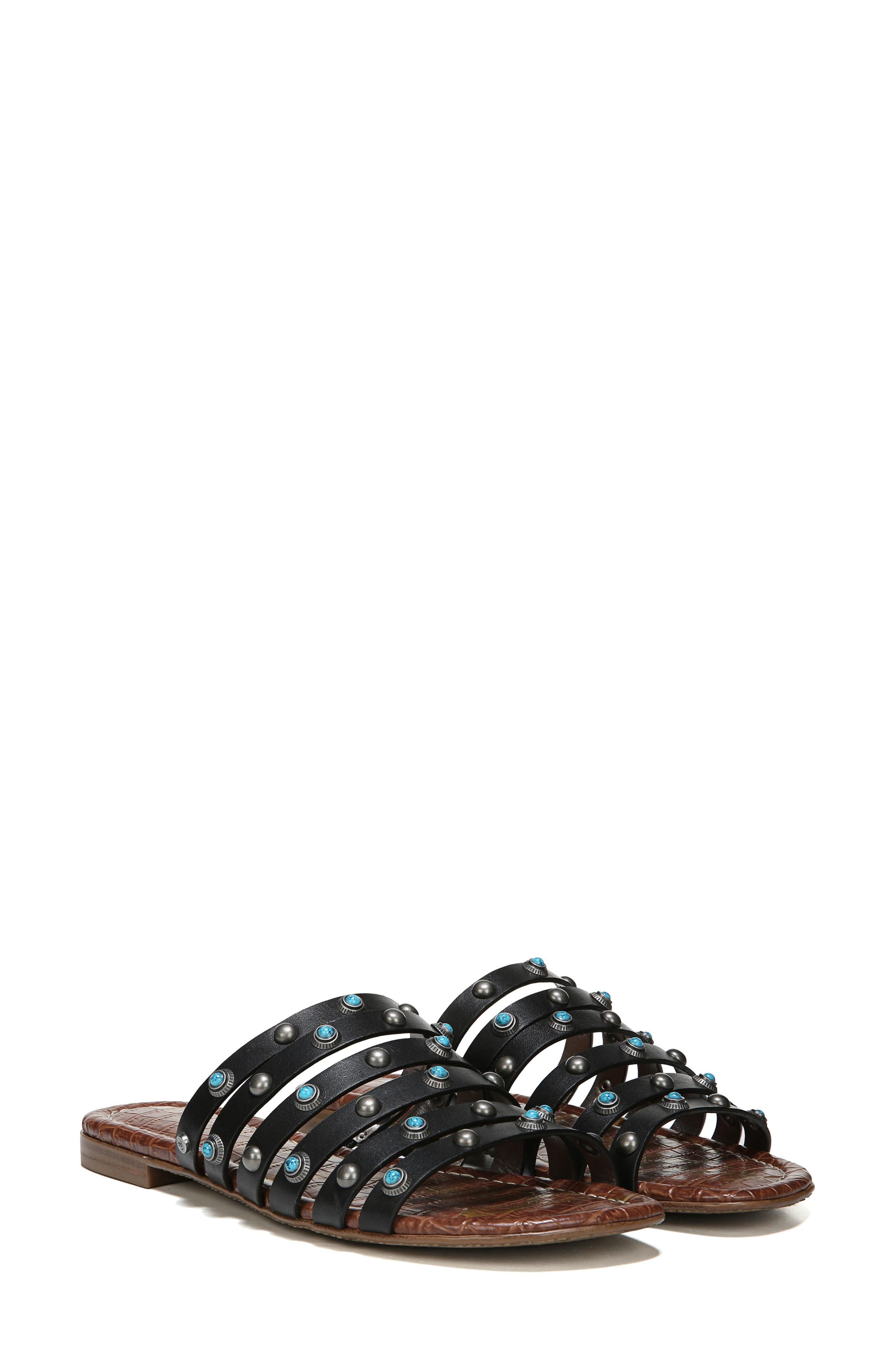 Brea Studded Slide Sandal,                             Alternate thumbnail 22, color,