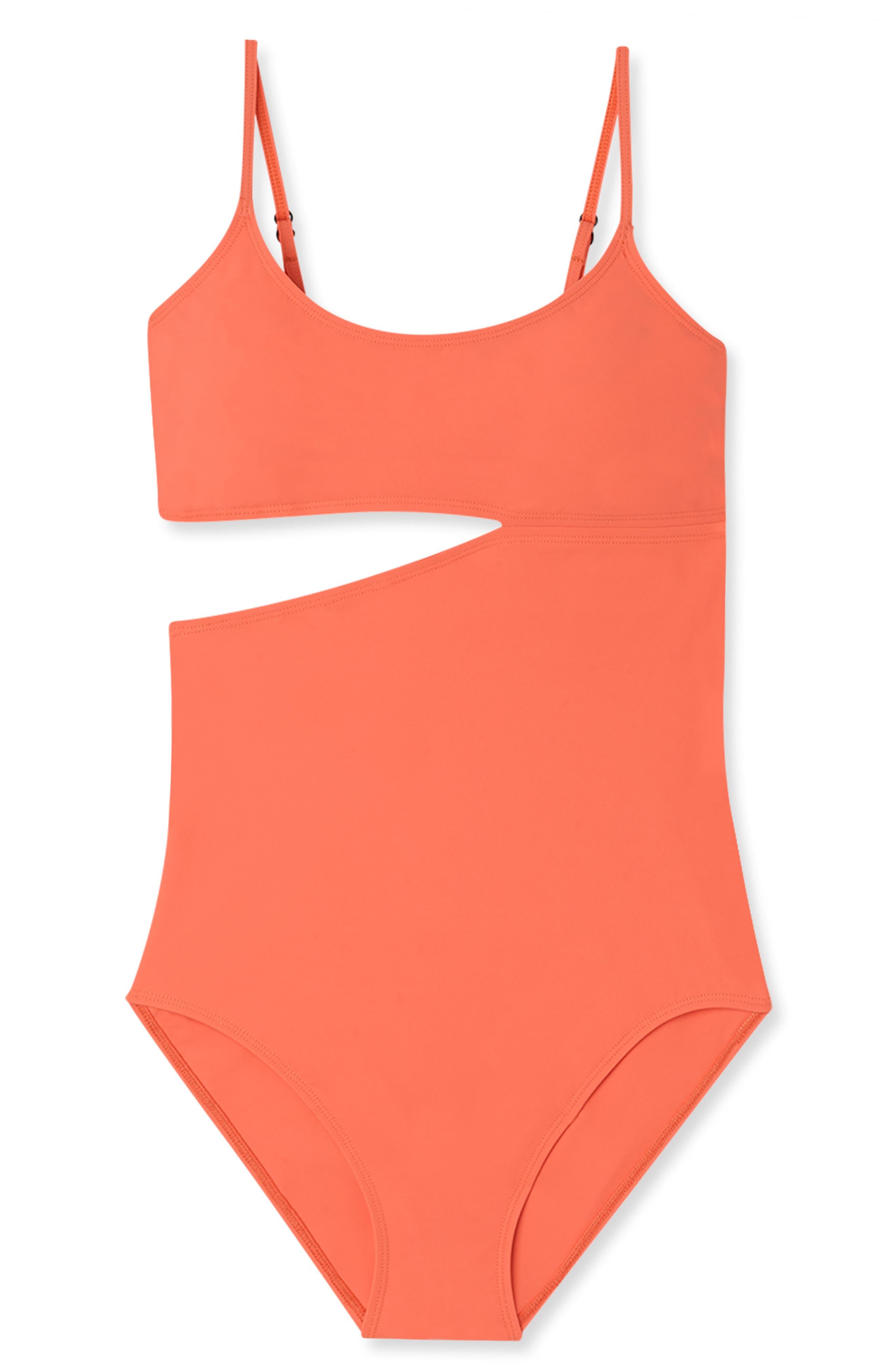 FLAGPOLE Bella One-Piece Swimsuit in Papaya