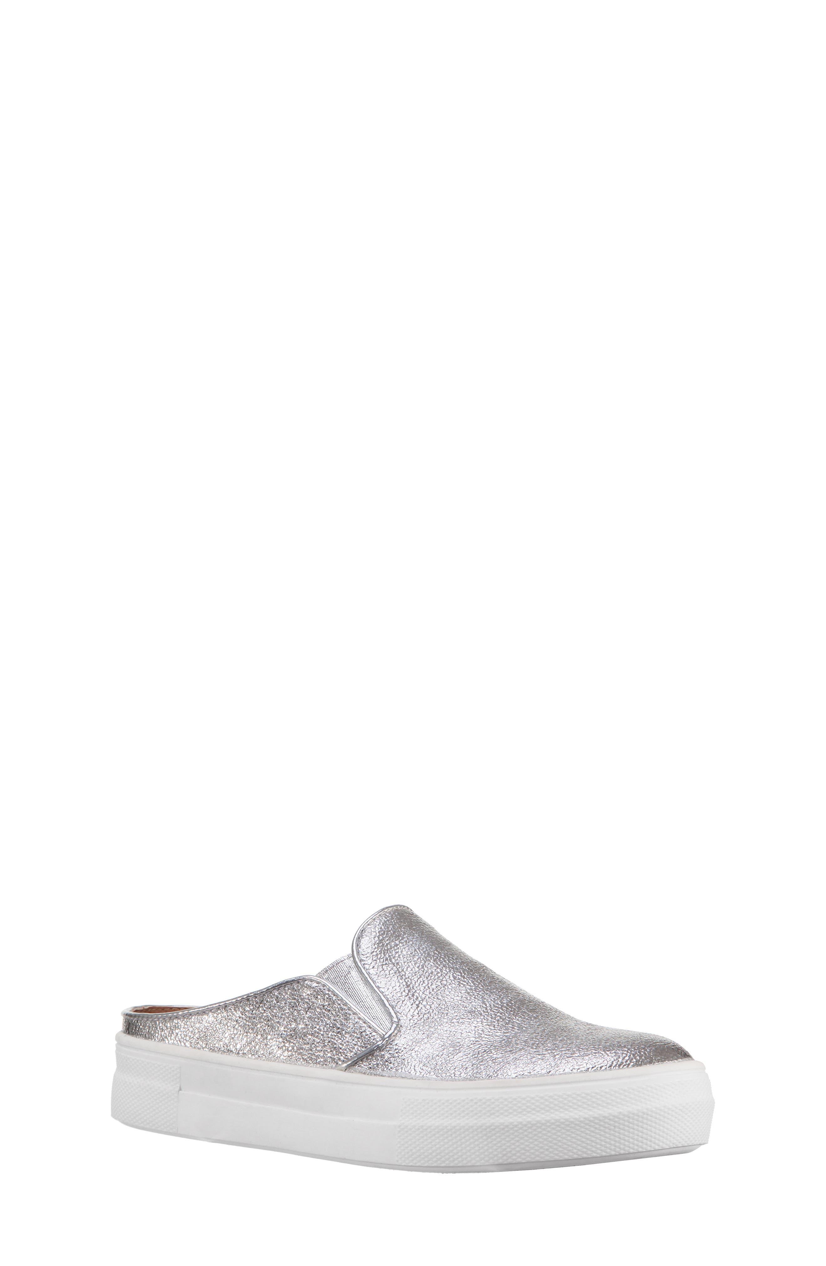 Gail Metallic Slip-On Sneaker Mule,                             Main thumbnail 1, color,                             044
