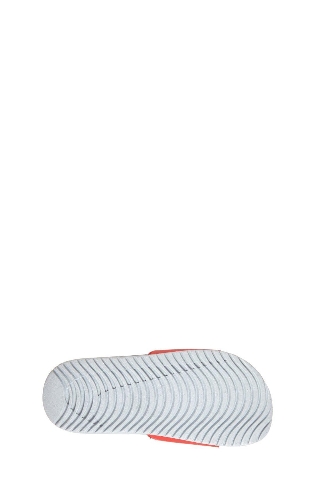 'Kawa' Slide Sandal,                             Alternate thumbnail 4, color,                             UNIVERSITY RED/ WHITE