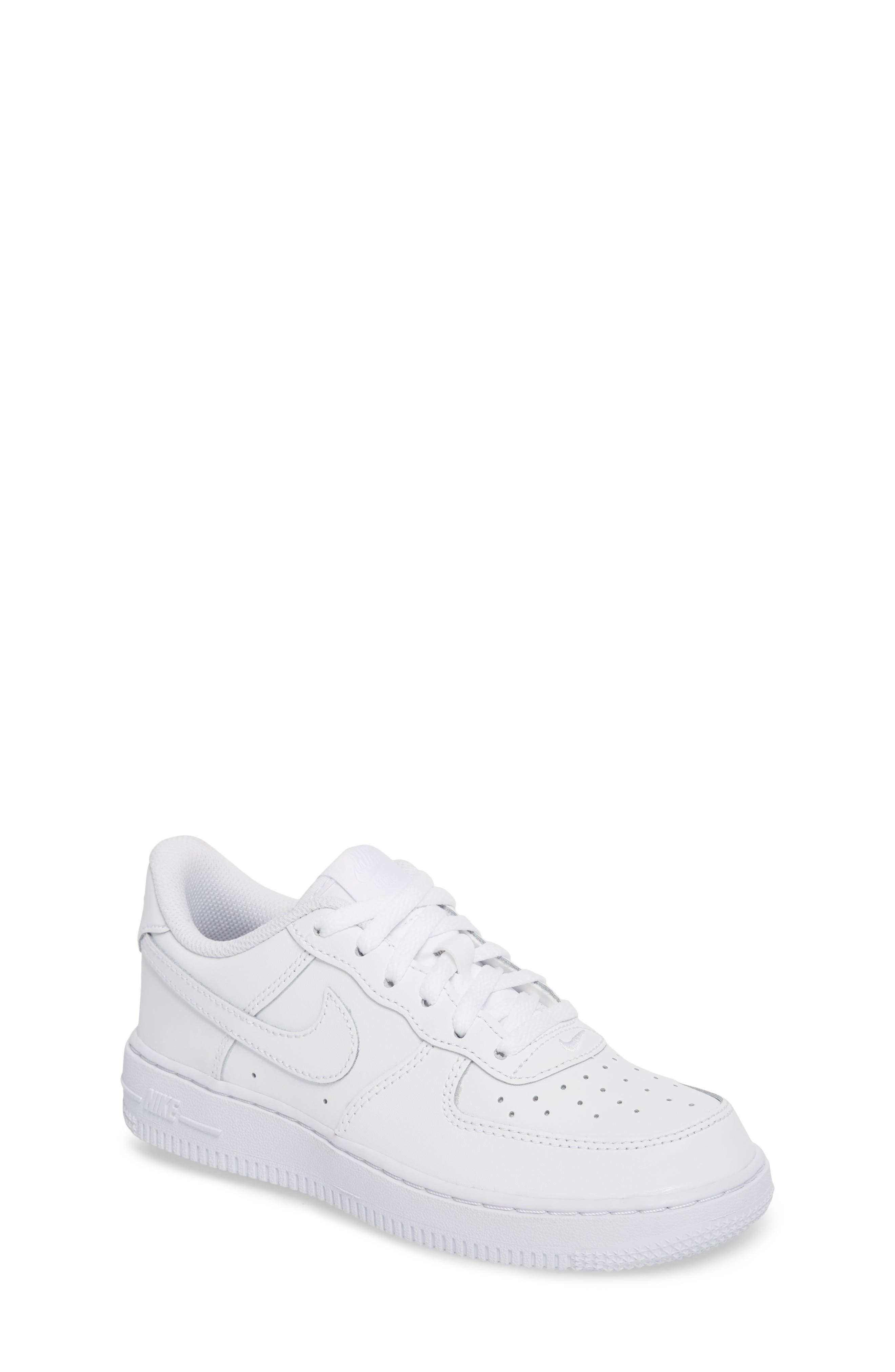 Air Force 1 Sneaker,                             Main thumbnail 1, color,                             WHITE/ WHITE