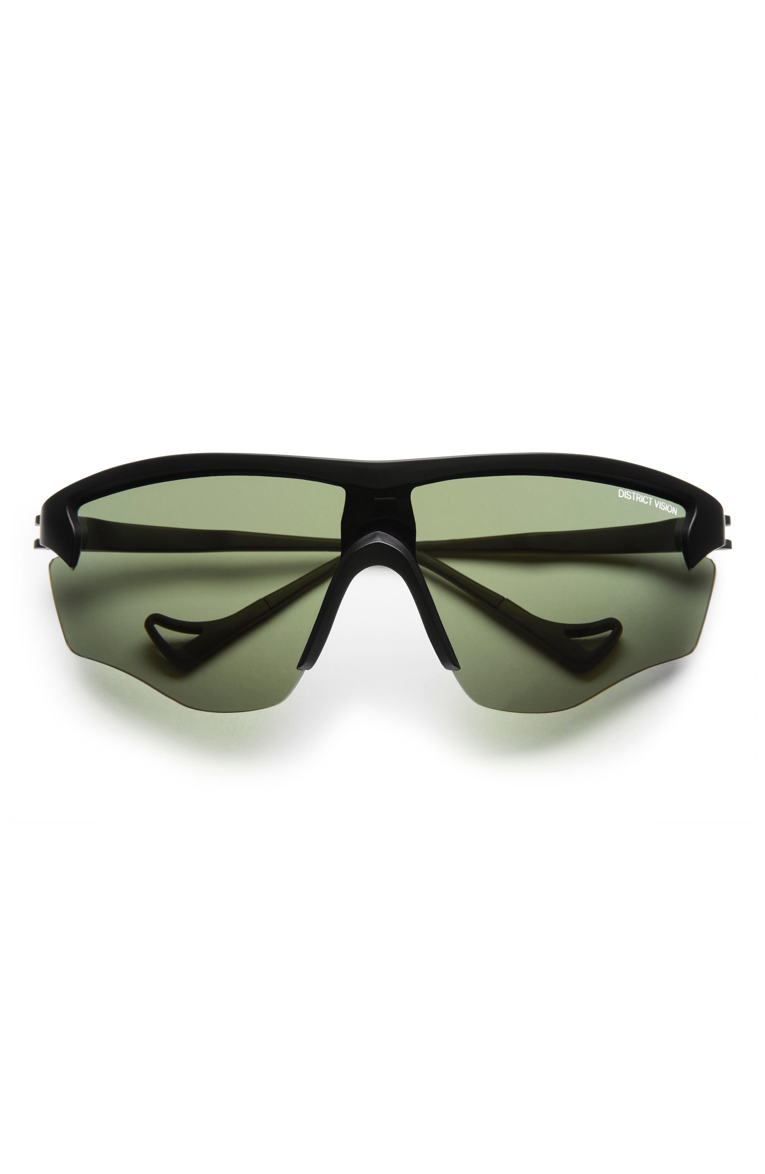 Junya 70mm Racing Sunglasses,                             Alternate thumbnail 2, color,                             BLACK/ SKY