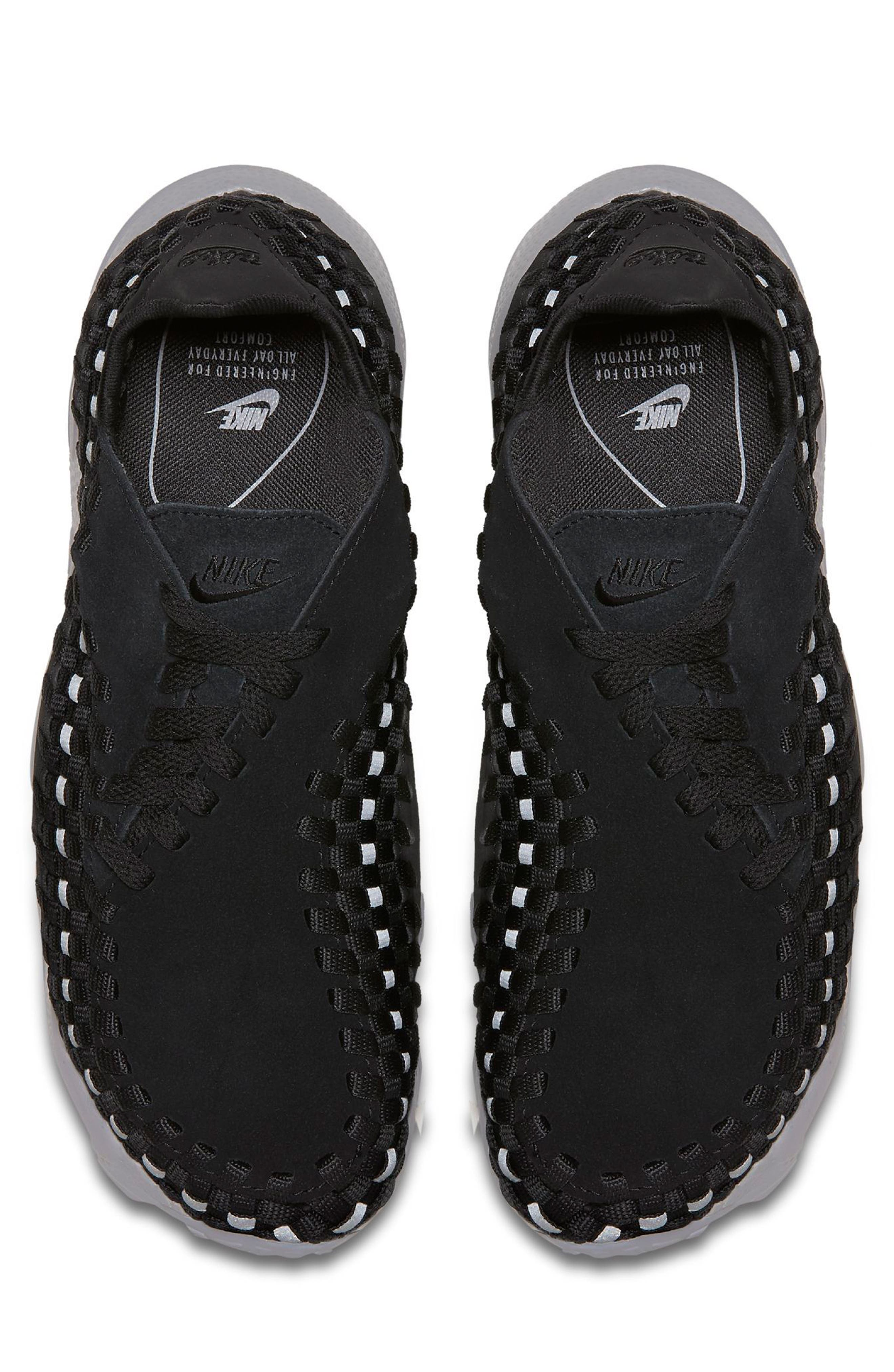 Air Footscape Woven Sneaker,                             Alternate thumbnail 4, color,                             002