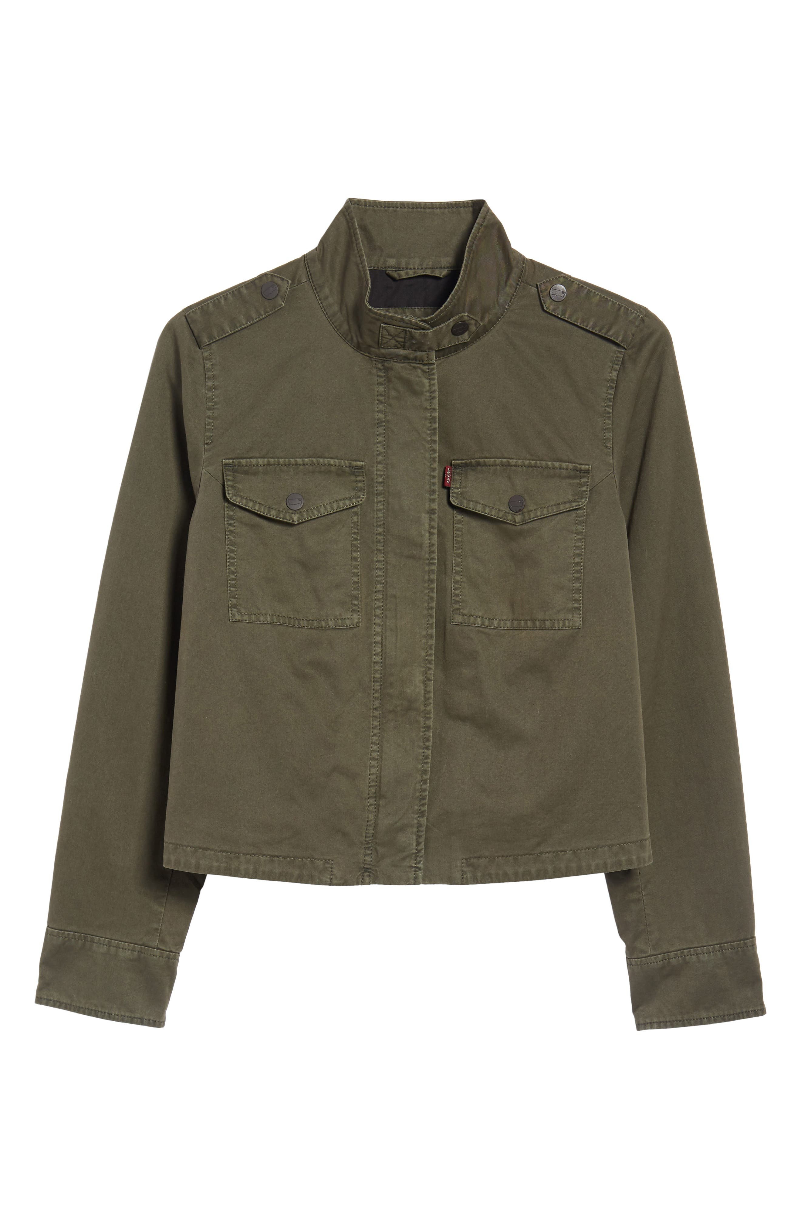 Crop Military Jacket,                             Alternate thumbnail 24, color,