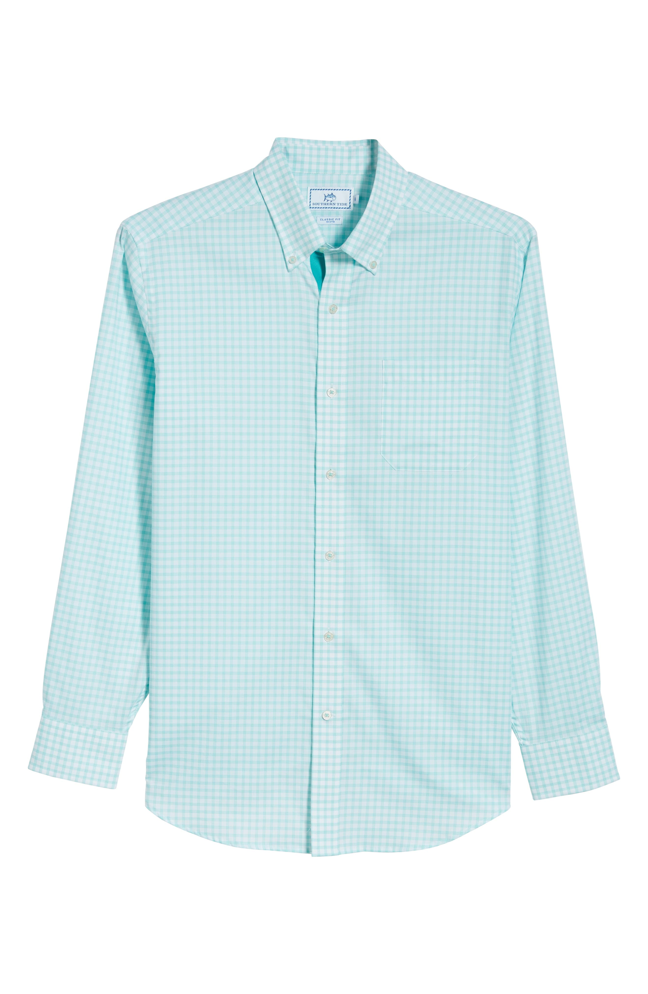 Like Oak Regular Fit Check Sport Shirt,                             Alternate thumbnail 6, color,                             MINT