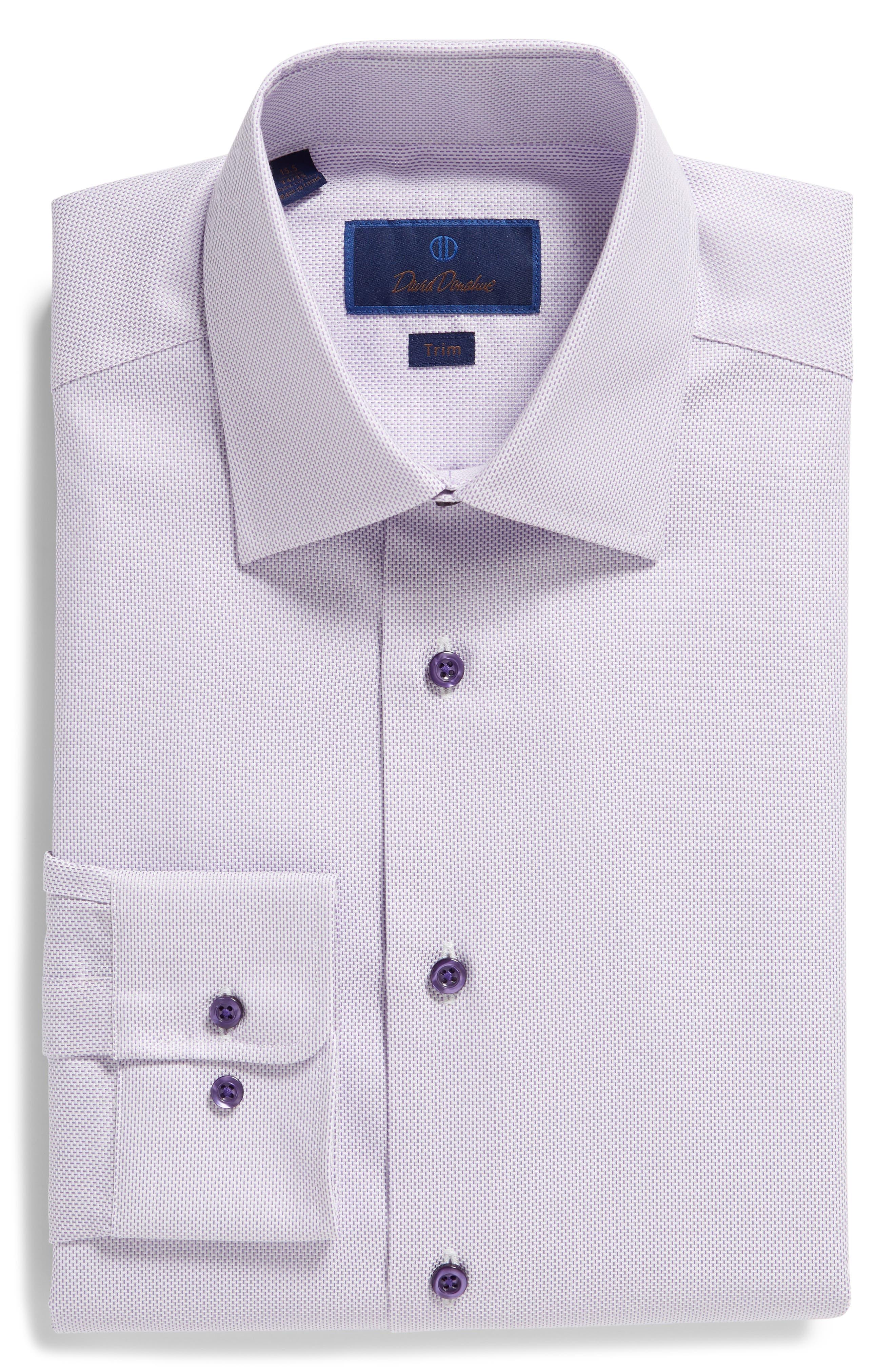 Trim Fit Dress Shirt,                             Alternate thumbnail 5, color,                             LILAC