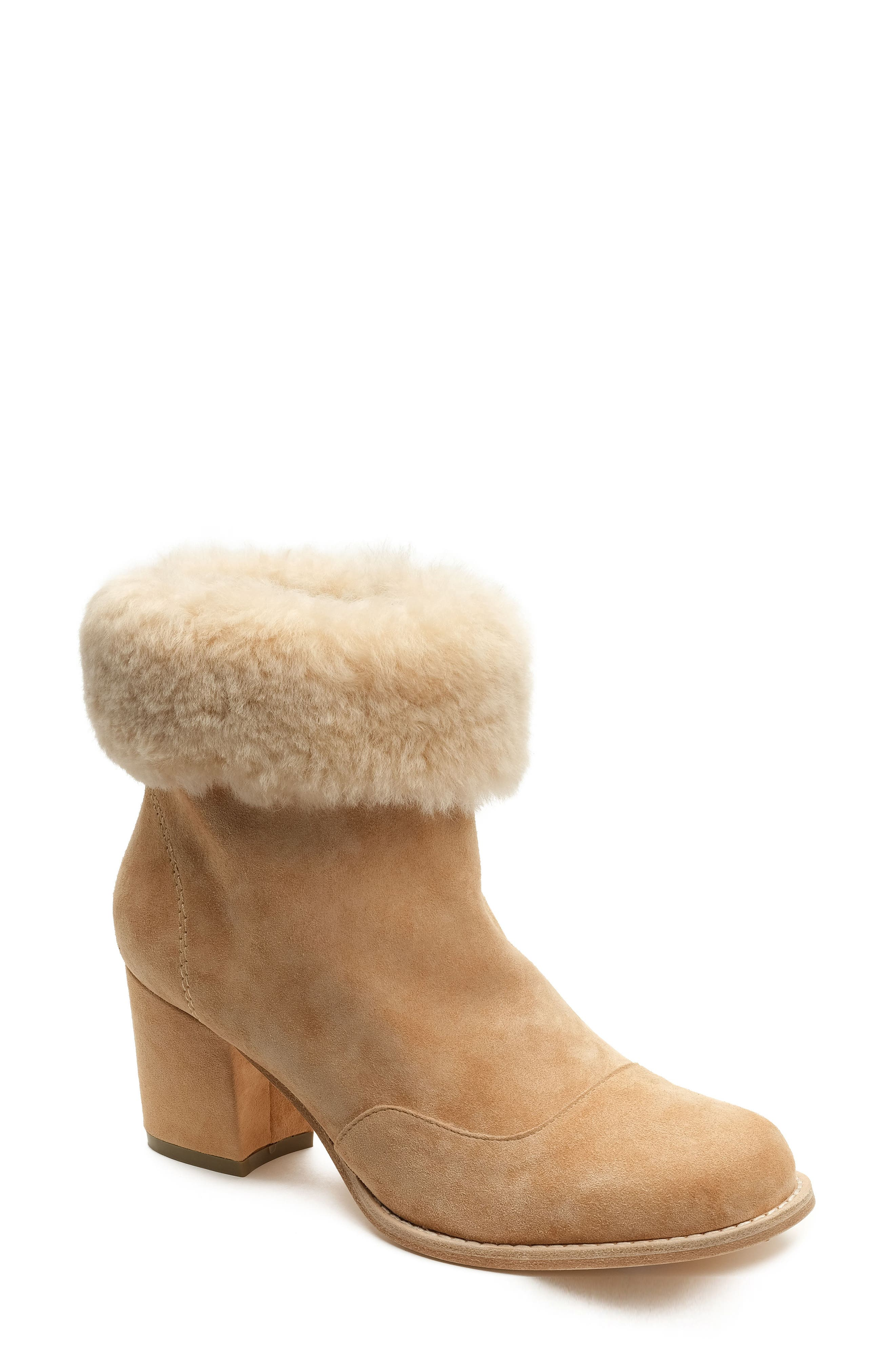 Genuine Shearling Bootie,                             Main thumbnail 1, color,