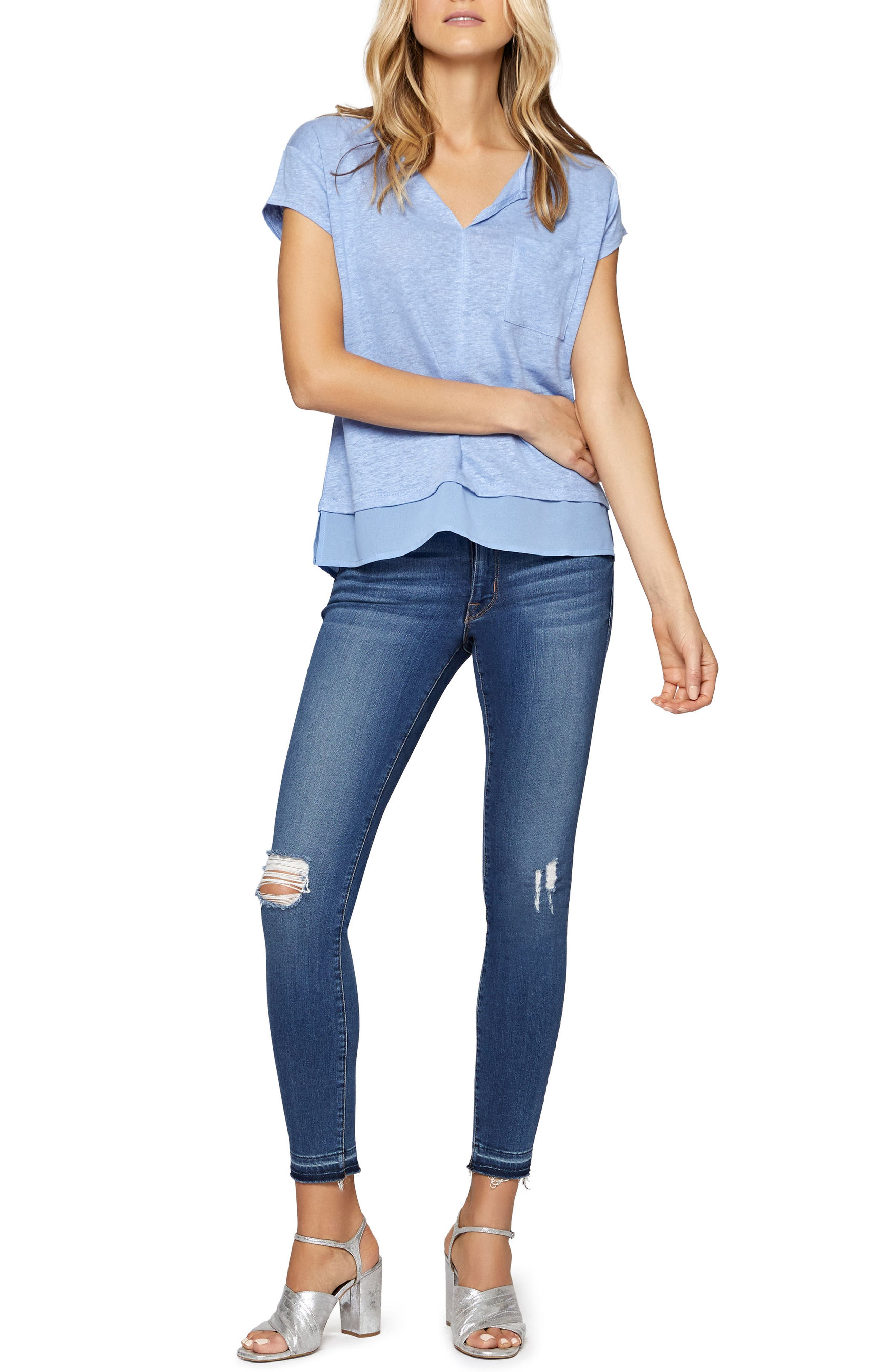 City Mix Layered Look Tee,                             Alternate thumbnail 53, color,