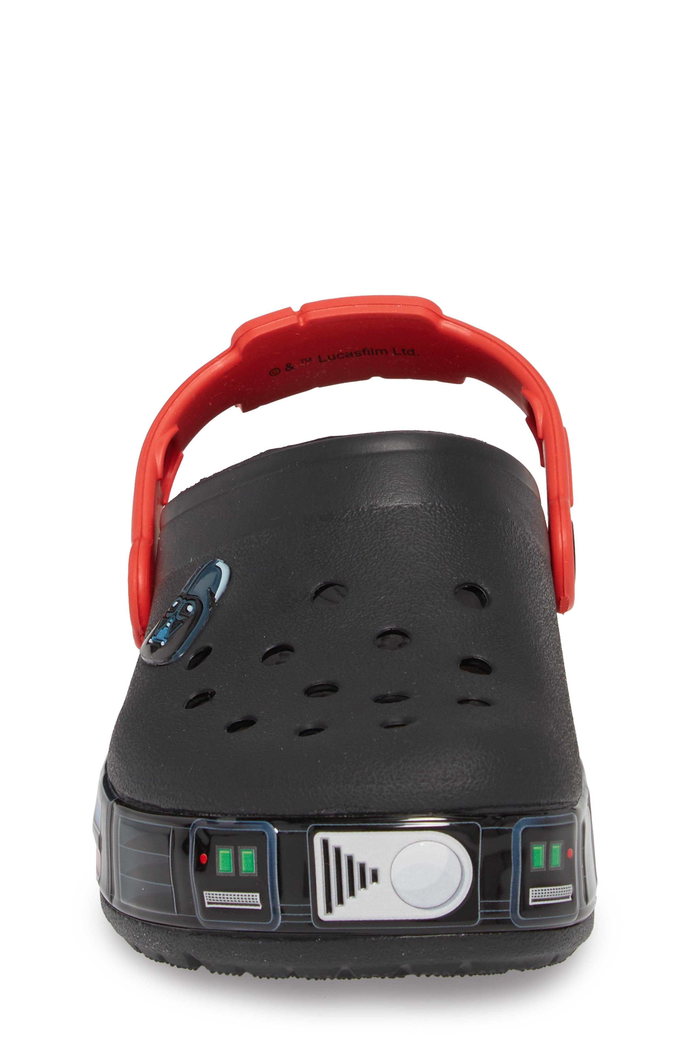 Fun Lab Star Wars<sup>®</sup> Darth Vader<sup>®</sup> Light-Up Clog,                             Alternate thumbnail 4, color,                             001