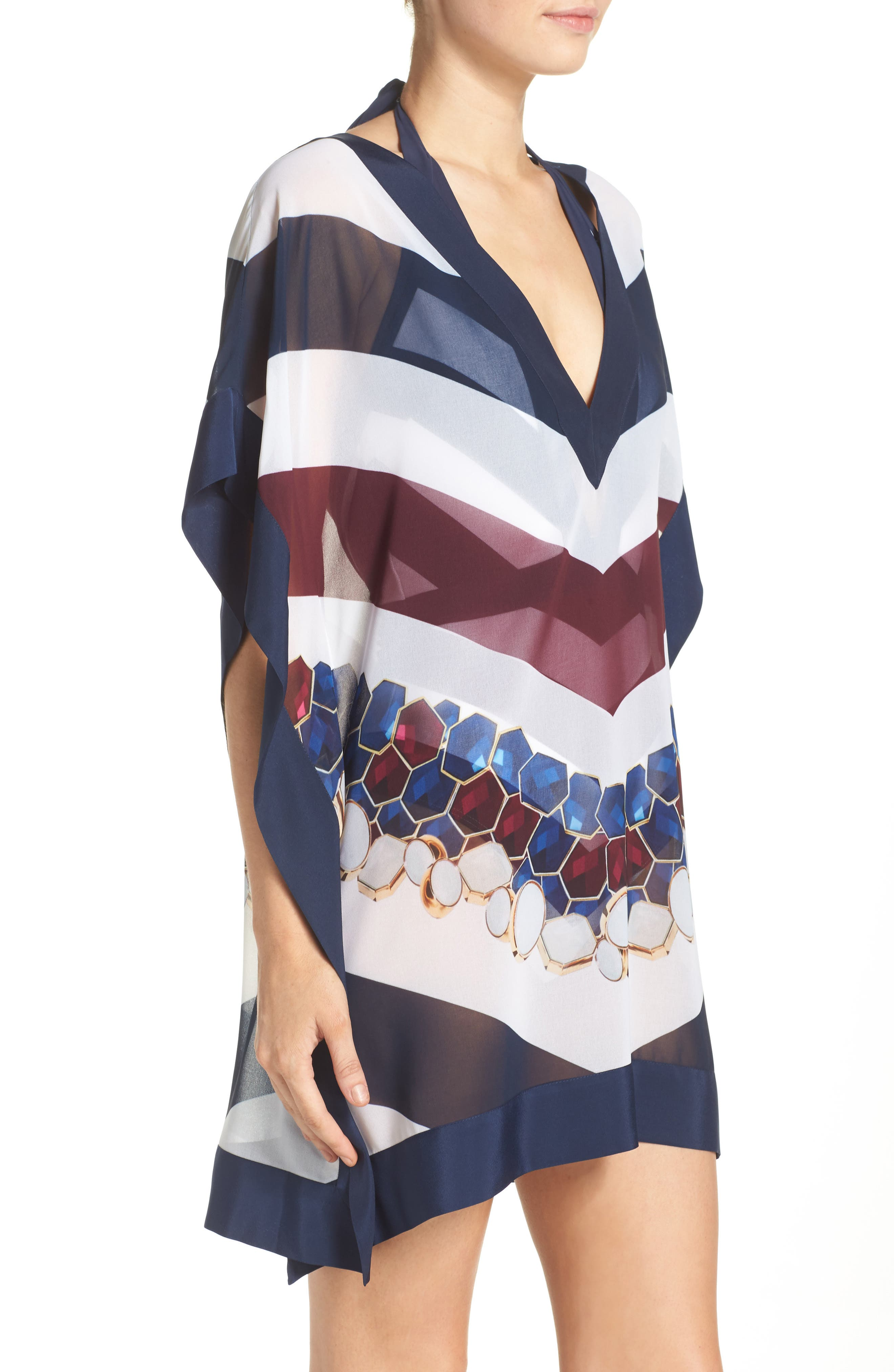 Rowing Stripe Cover-Up Tunic,                             Alternate thumbnail 3, color,