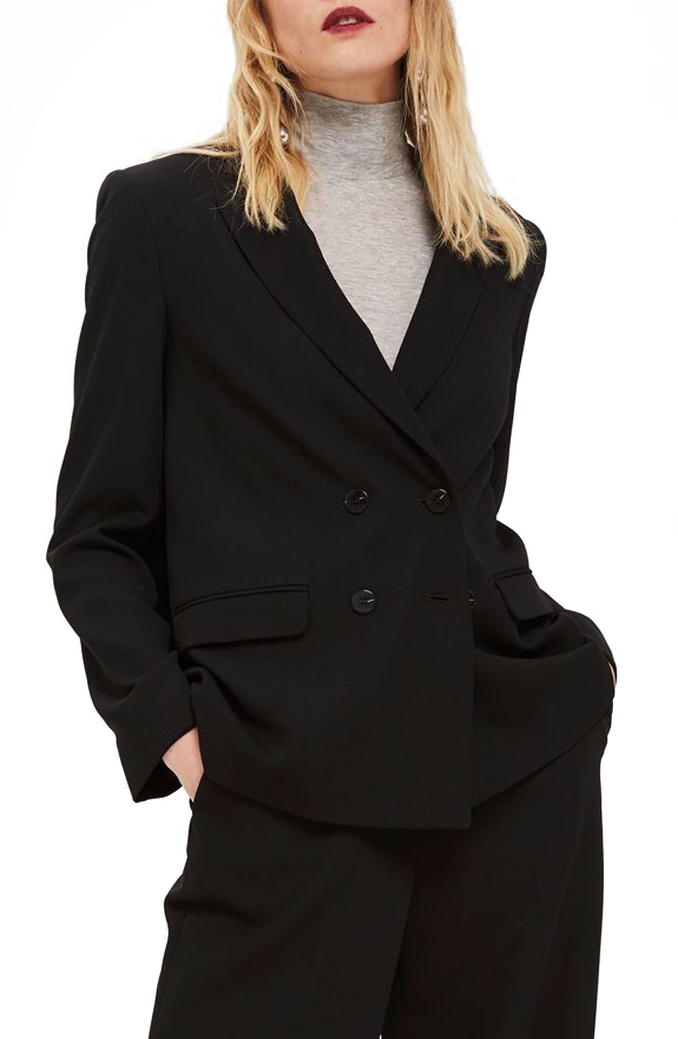 Slouch Suit Blazer,                             Main thumbnail 1, color,                             001