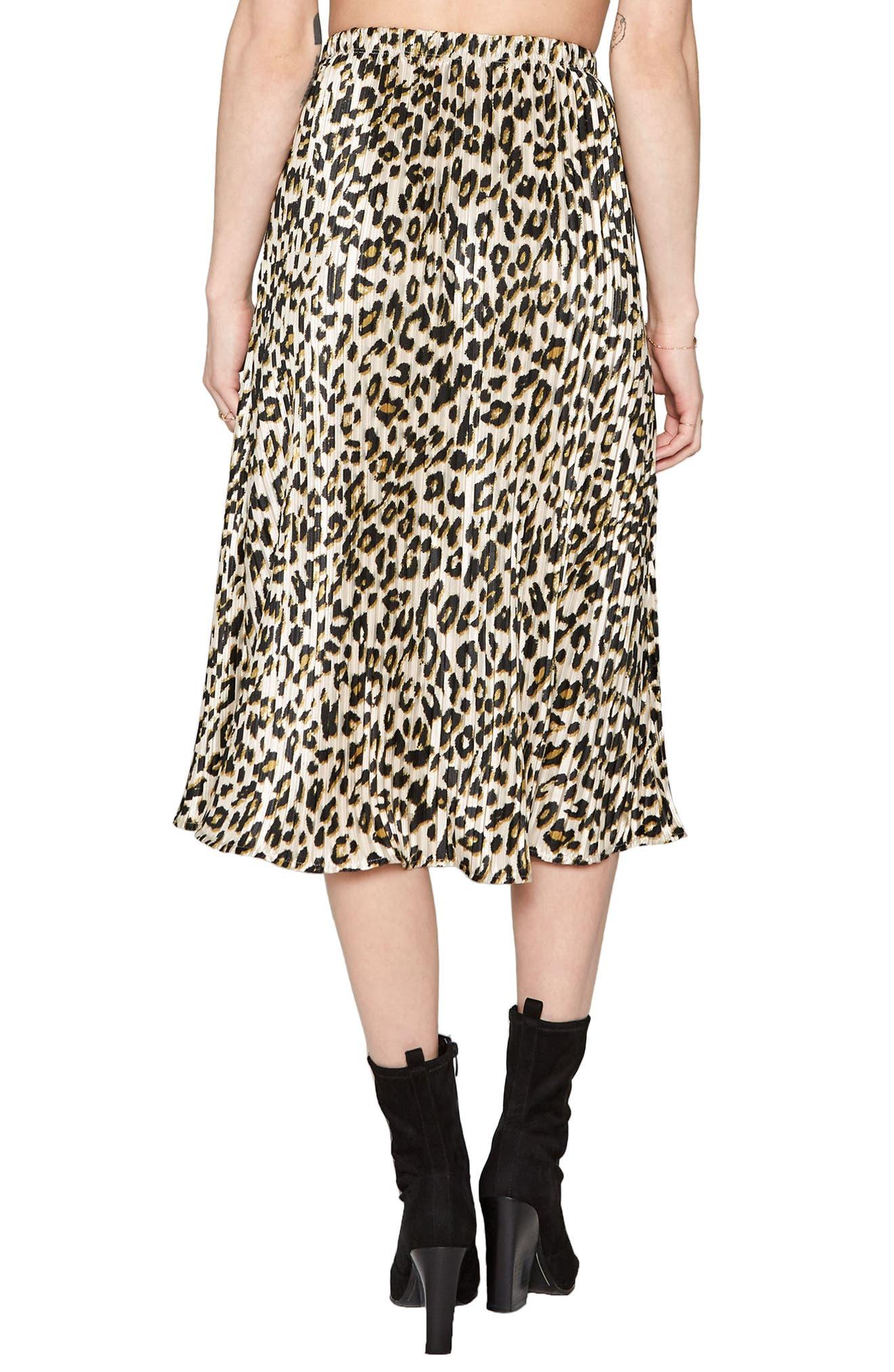 Animal Instinct Midi Skirt,                             Alternate thumbnail 4, color,