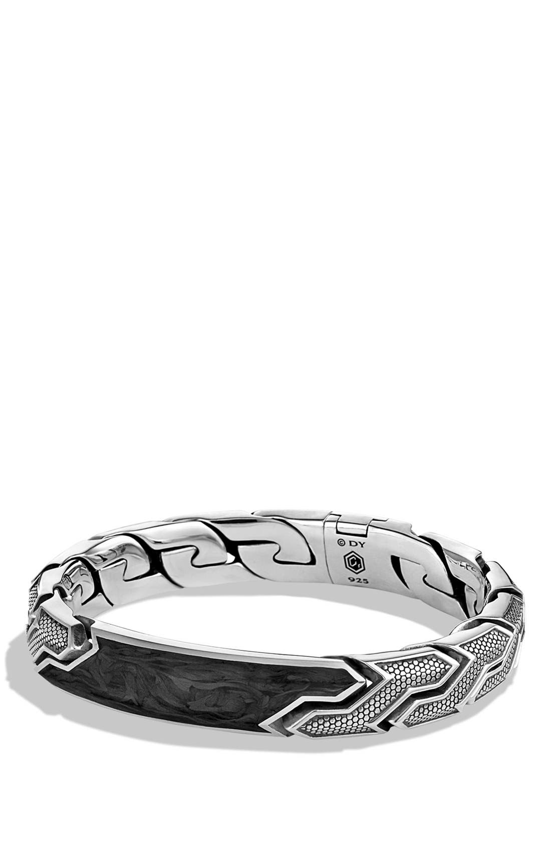 DAVID YURMAN,                             Forged Carbon ID Bracelet,                             Main thumbnail 1, color,                             FORGED CARBON
