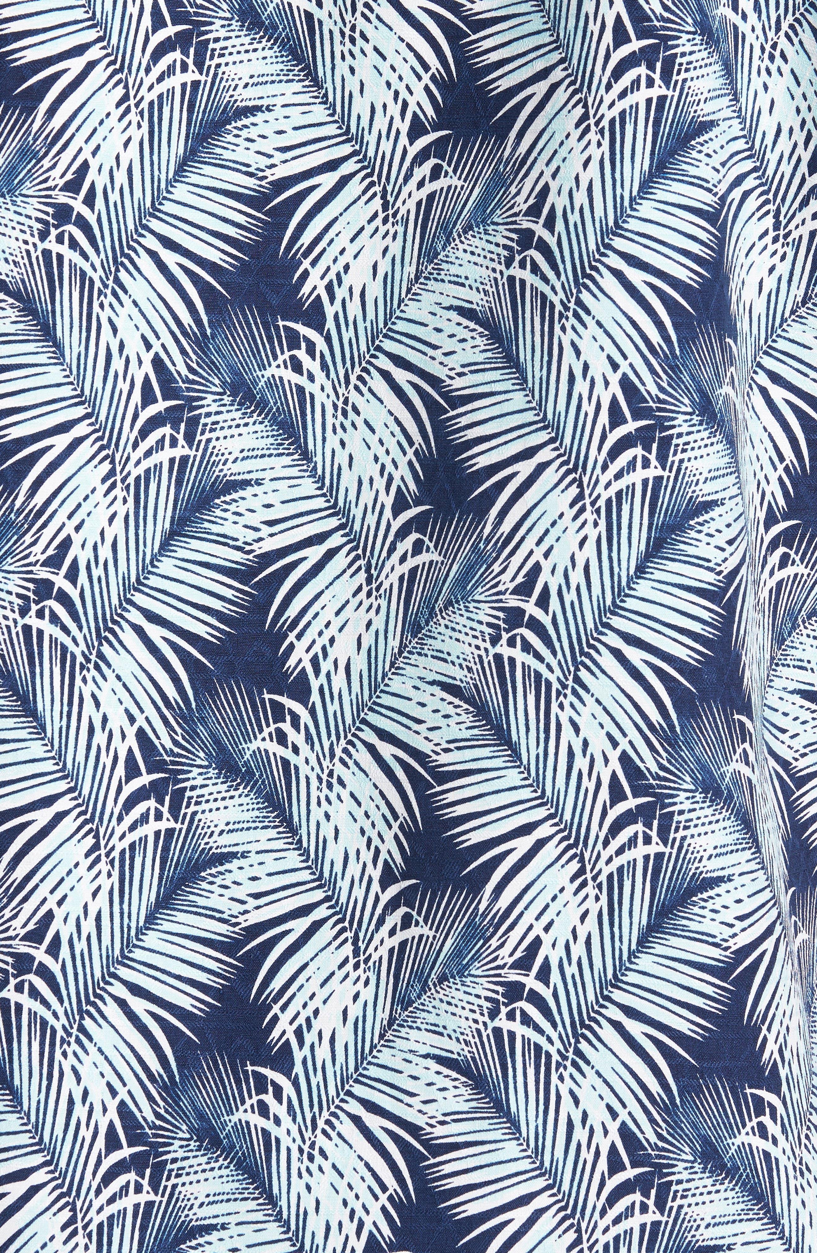 Palms of Tulum Silk Camp Shirt,                             Alternate thumbnail 5, color,                             401