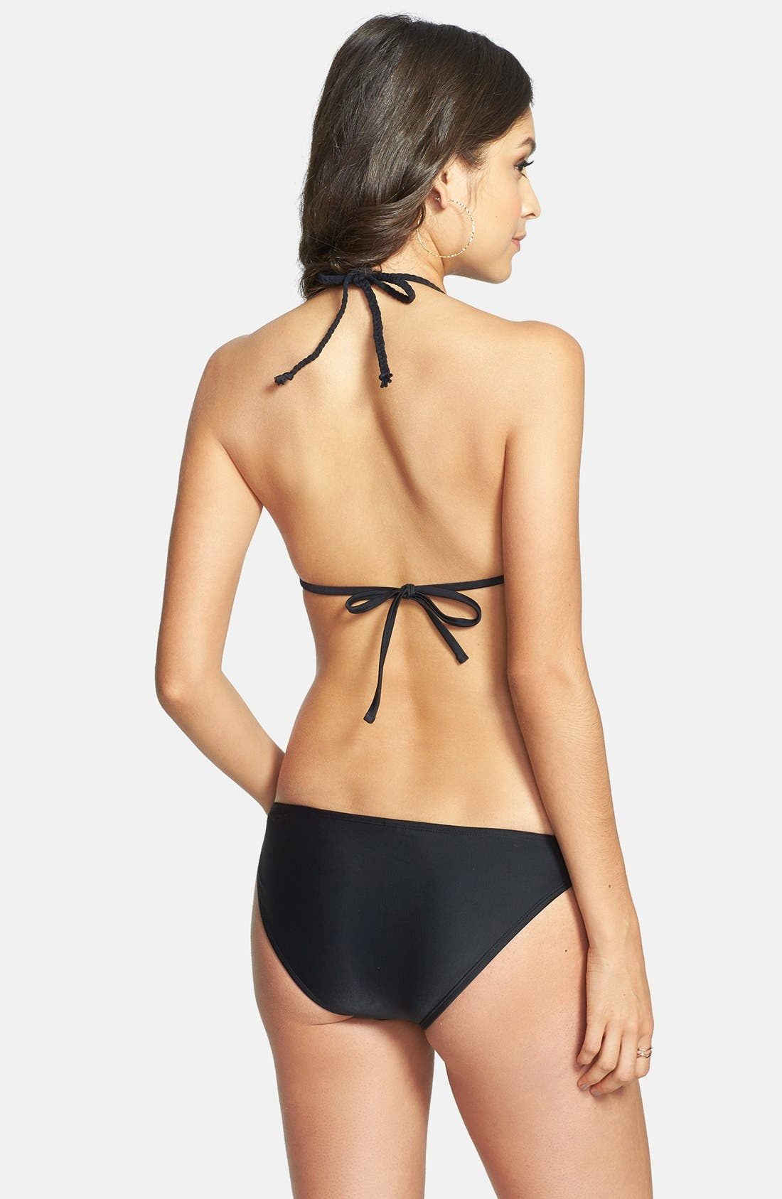 BP. UNDERCOVER,                             Knotted Side Bikini Bottoms,                             Alternate thumbnail 4, color,                             001
