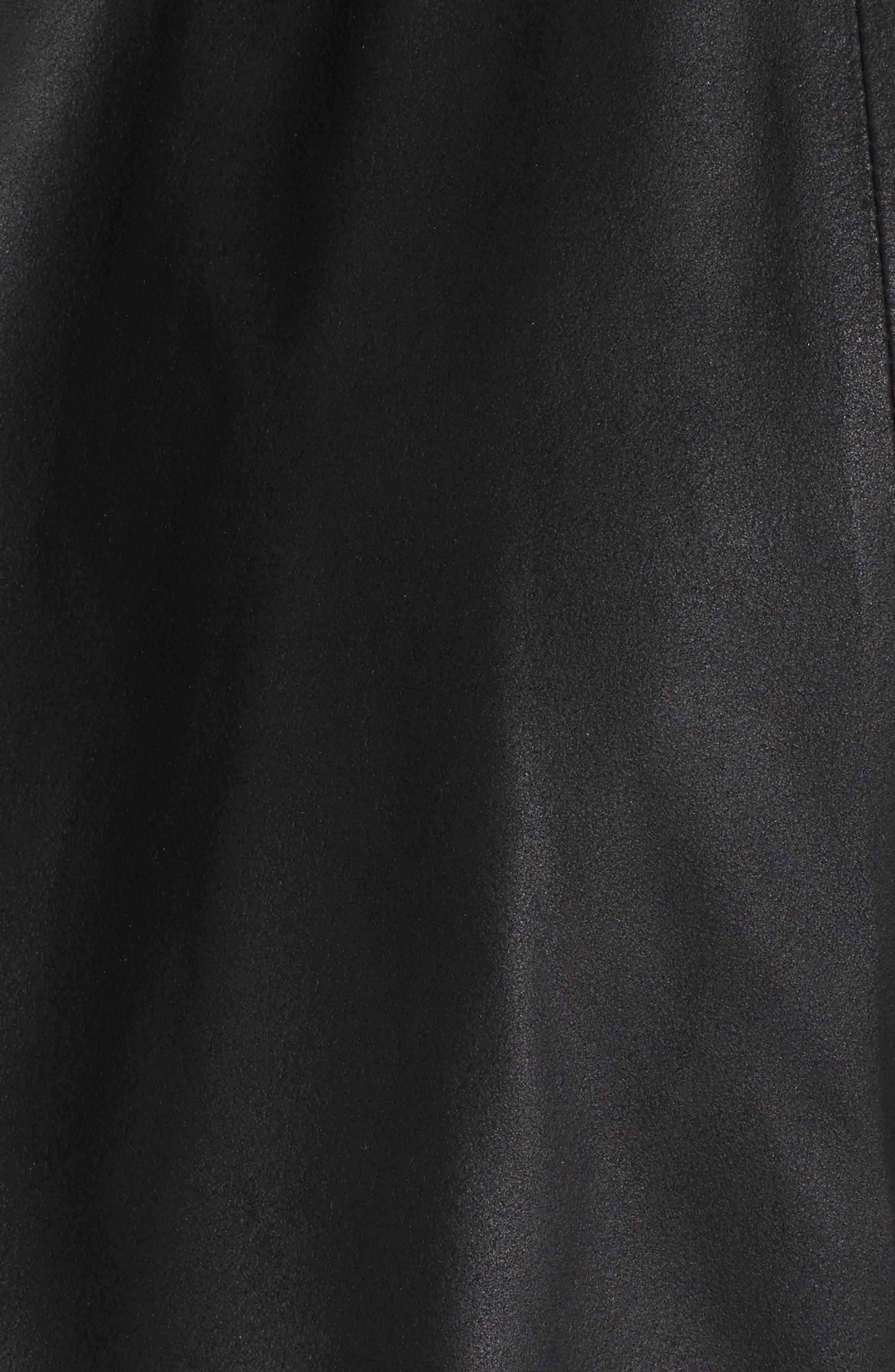 Brycen Leather Drape Front Jacket,                             Alternate thumbnail 6, color,                             001