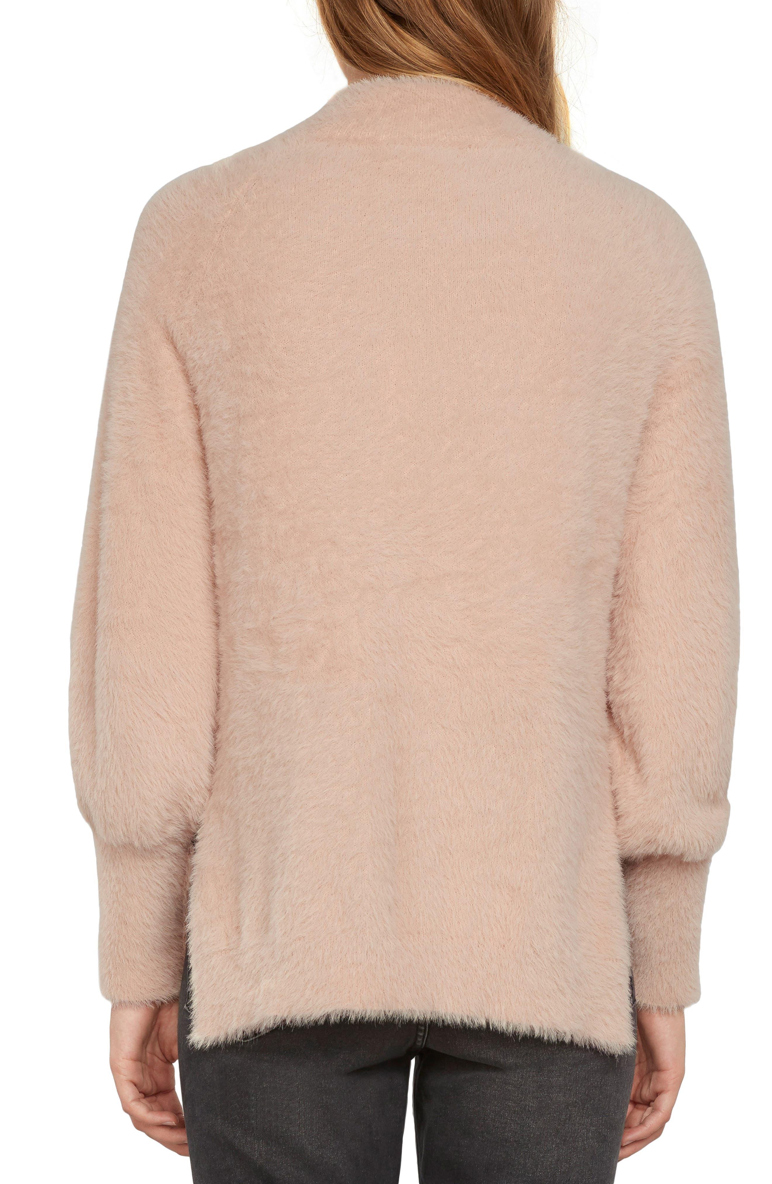 Fuzzy Mock Neck Sweater,                             Alternate thumbnail 6, color,