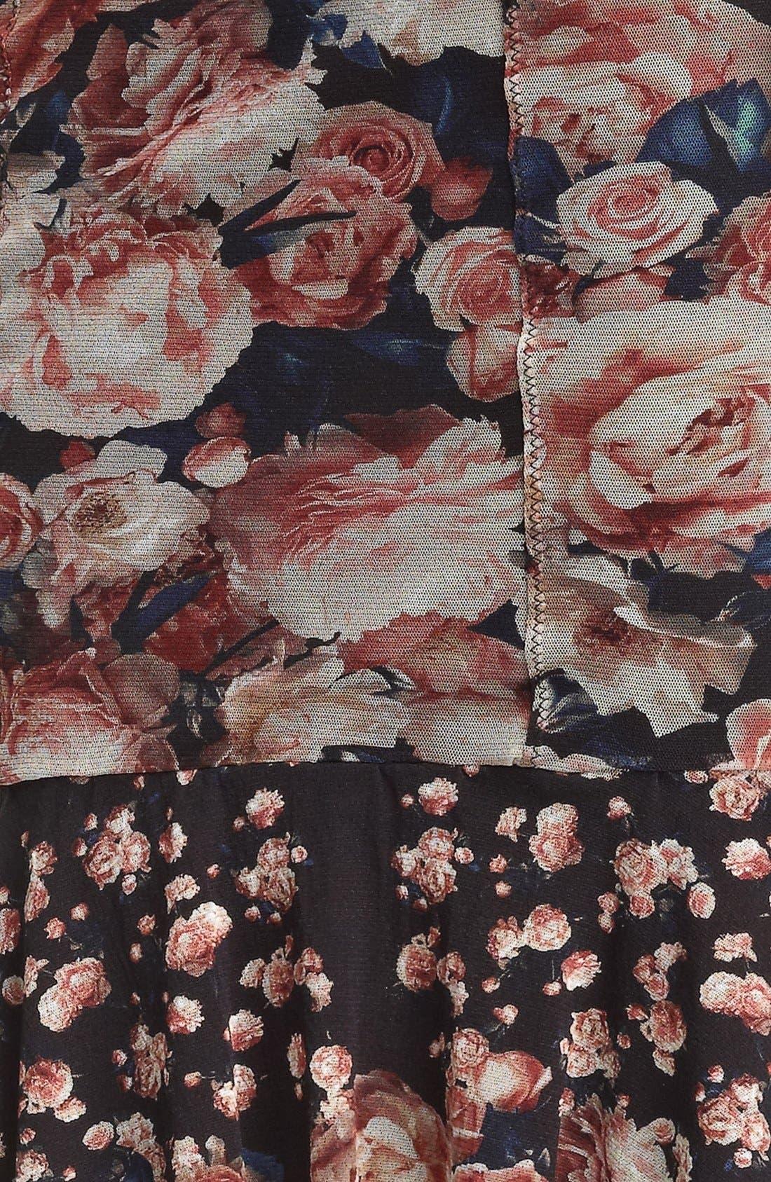 Jean Paul Gaultier Fuzzi Flare Hem Skirt,                             Alternate thumbnail 3, color,                             001
