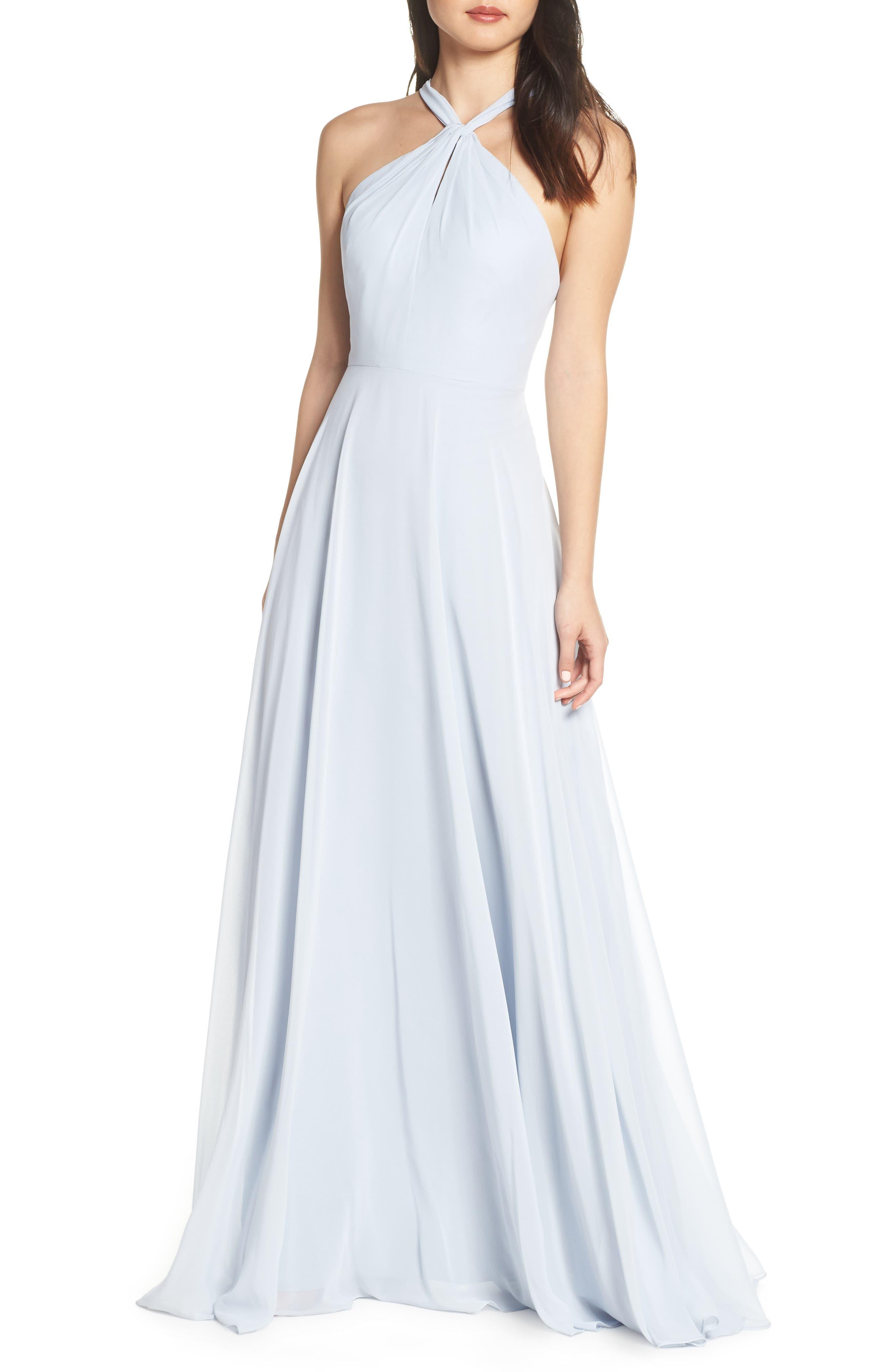 Jenny Yoo Halle Halter Evening Dress, 8 (similar to 1) - Blue