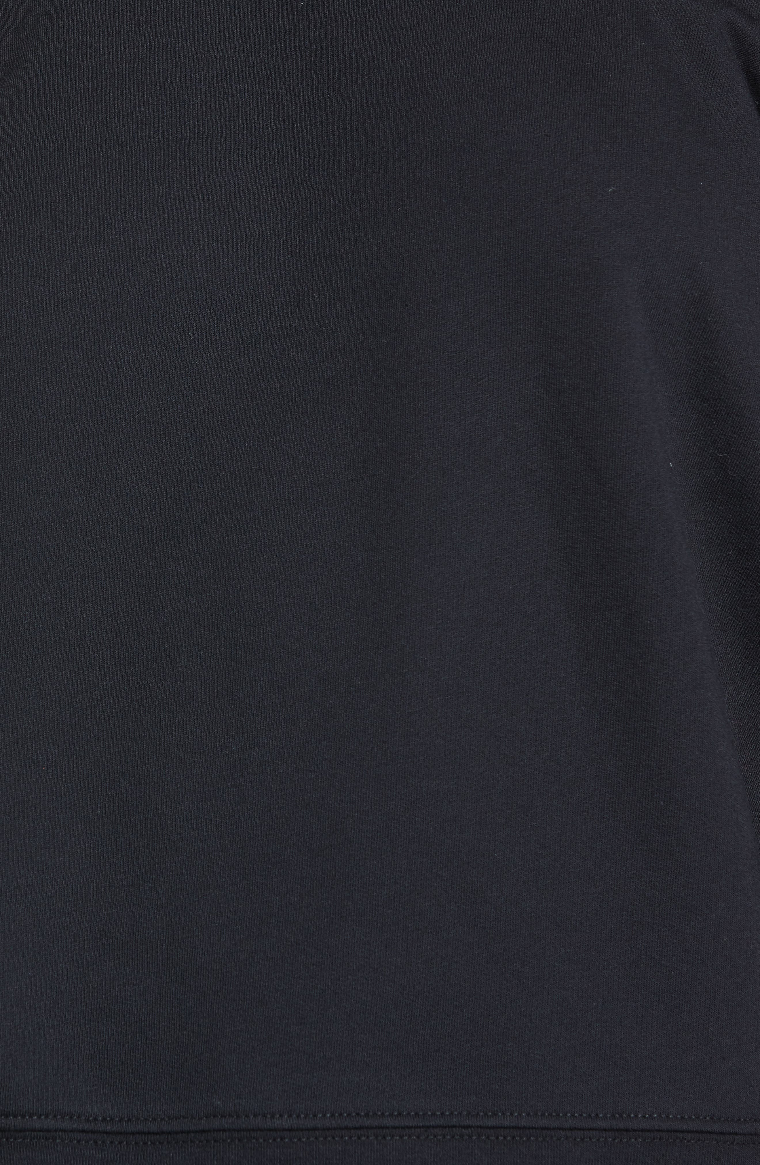 Raw Neck Sweatshirt,                             Alternate thumbnail 5, color,                             001