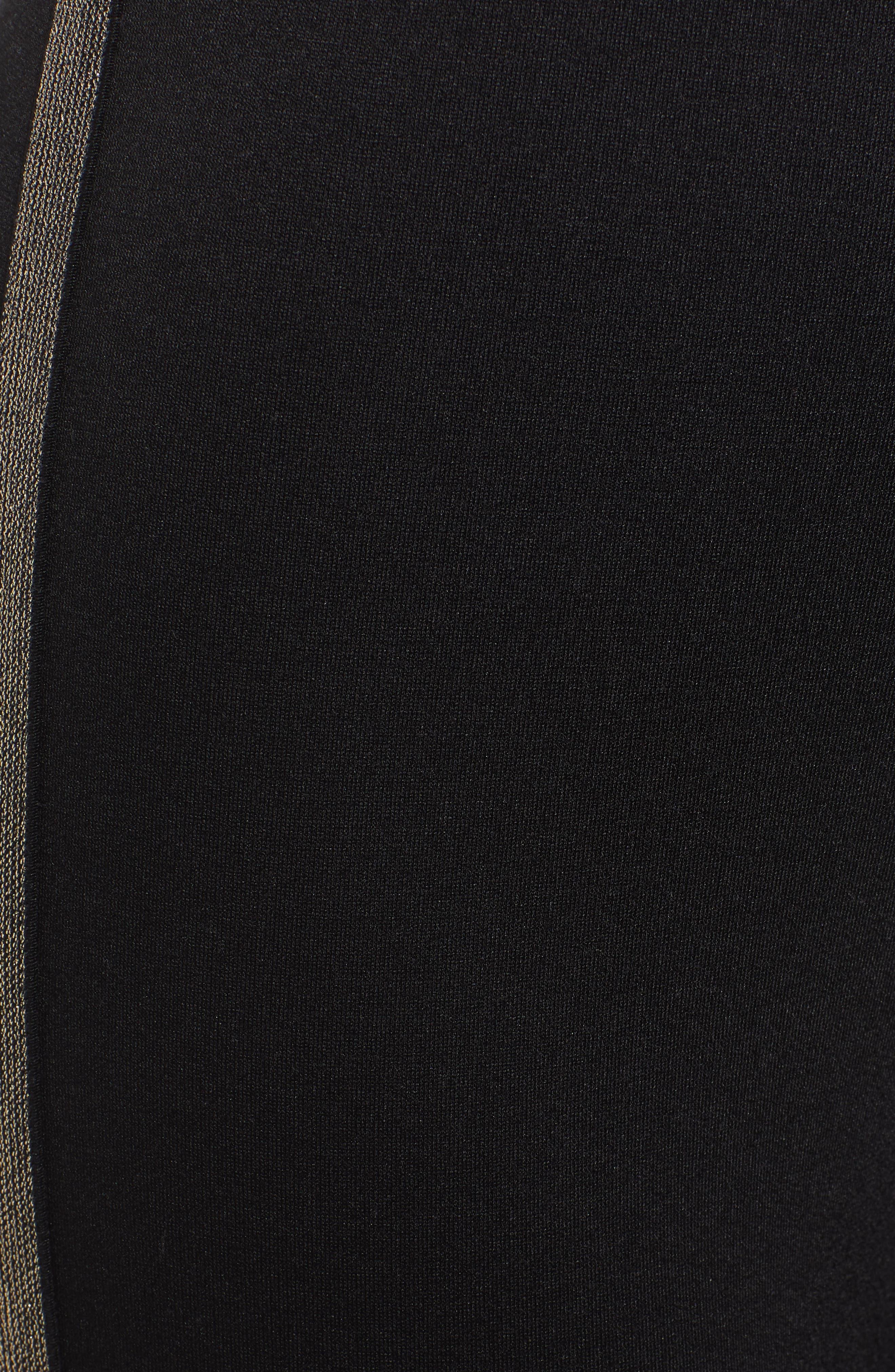 Metallic Tuxedo Stripe Ponte Leggings,                             Alternate thumbnail 6, color,                             005