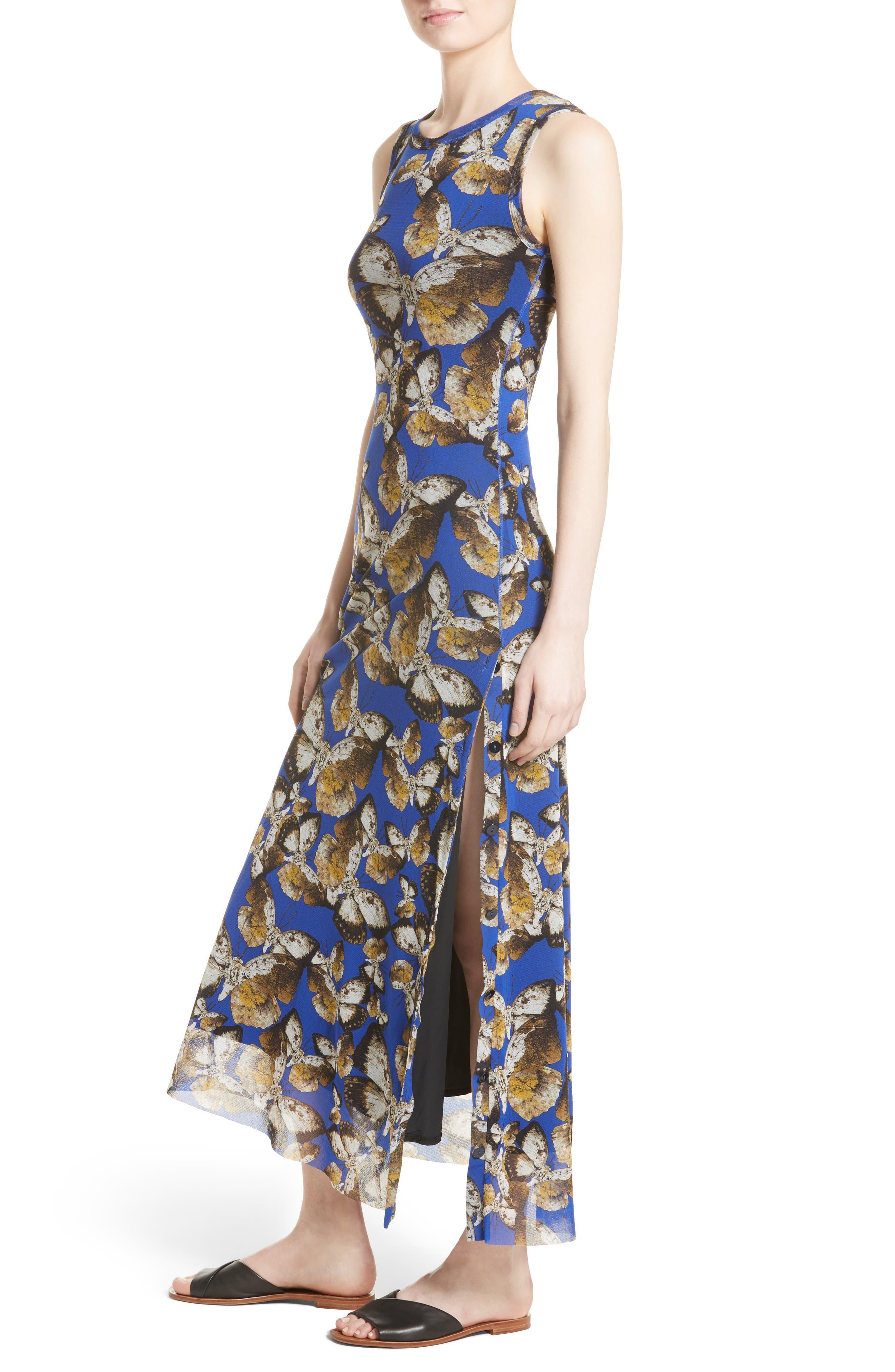 Tulle Maxi Dress,                             Alternate thumbnail 4, color,                             434
