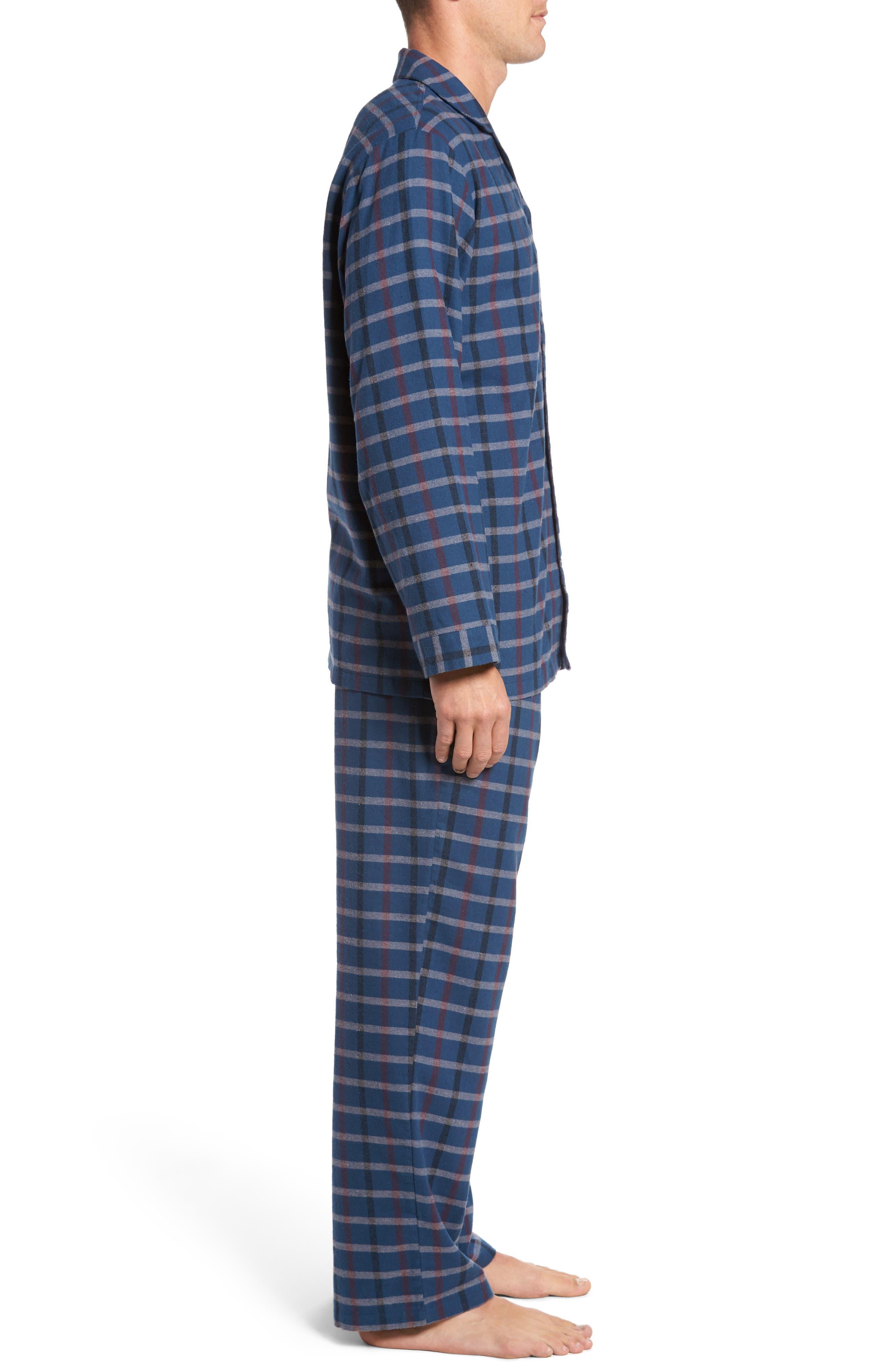'824' Flannel Pajama Set,                             Alternate thumbnail 63, color,