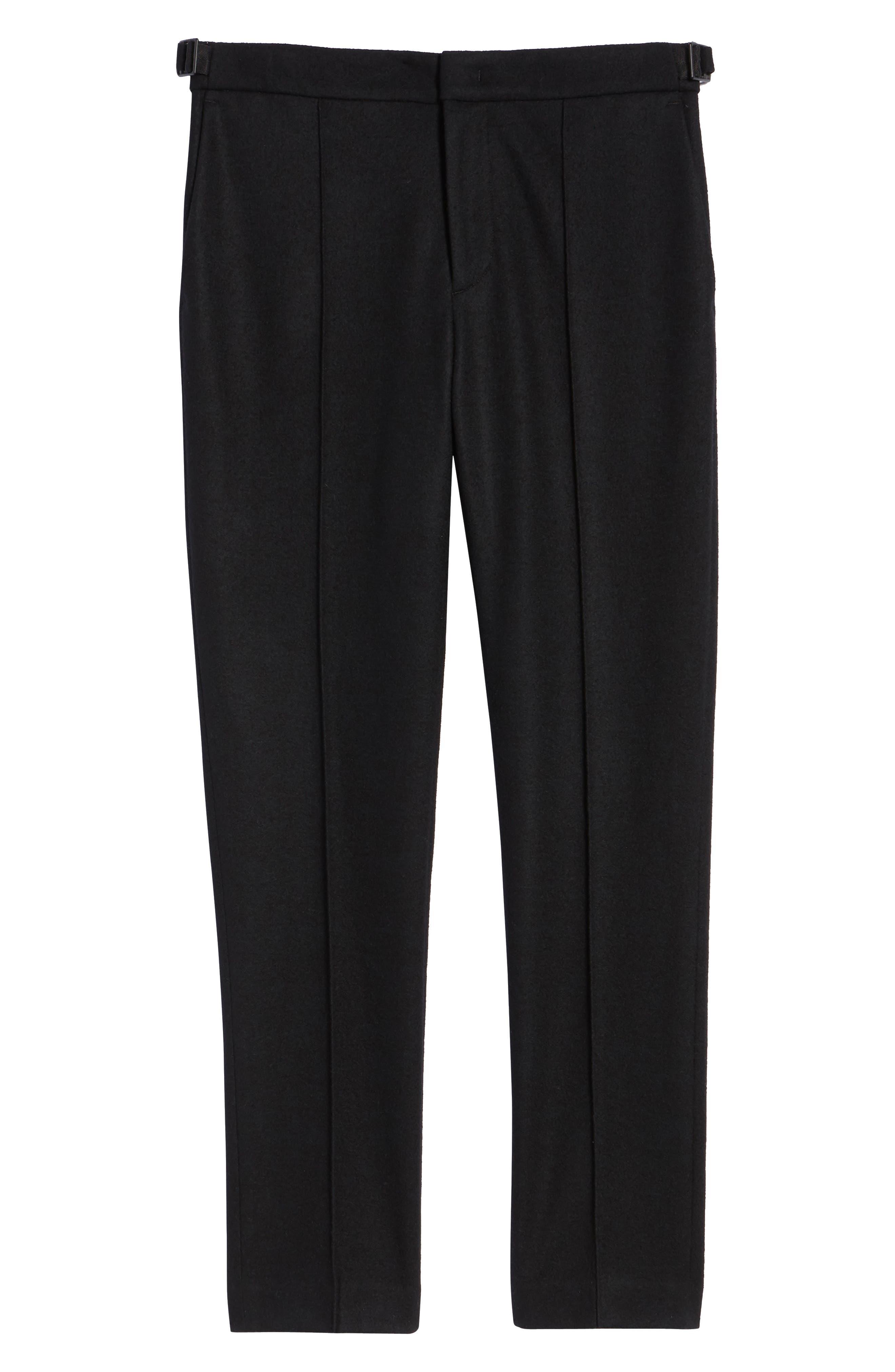 Sector Slim Fit Wool Jersey Pants,                             Alternate thumbnail 6, color,                             BLACK