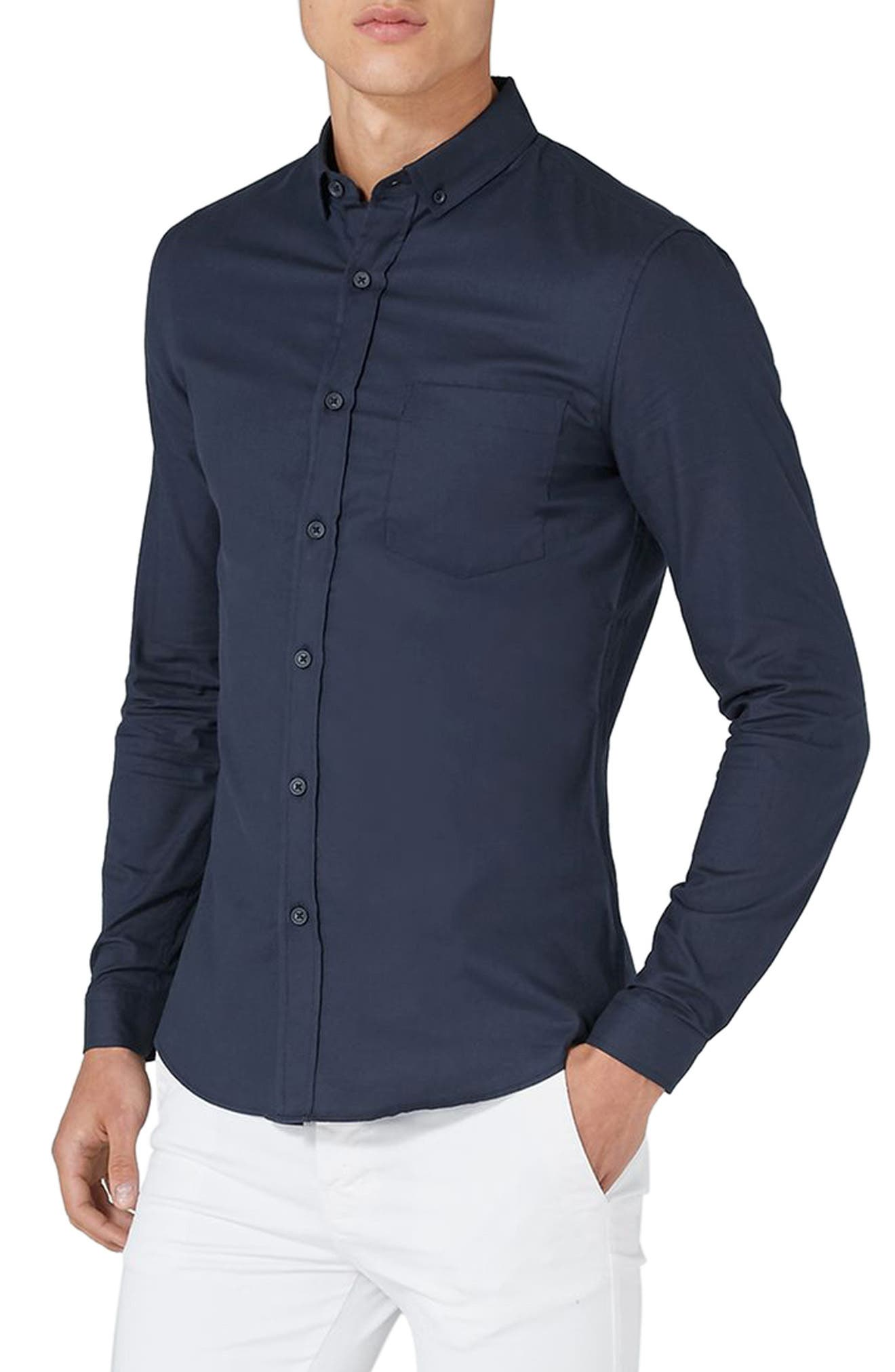 Muscle Fit Oxford Shirt,                             Main thumbnail 2, color,