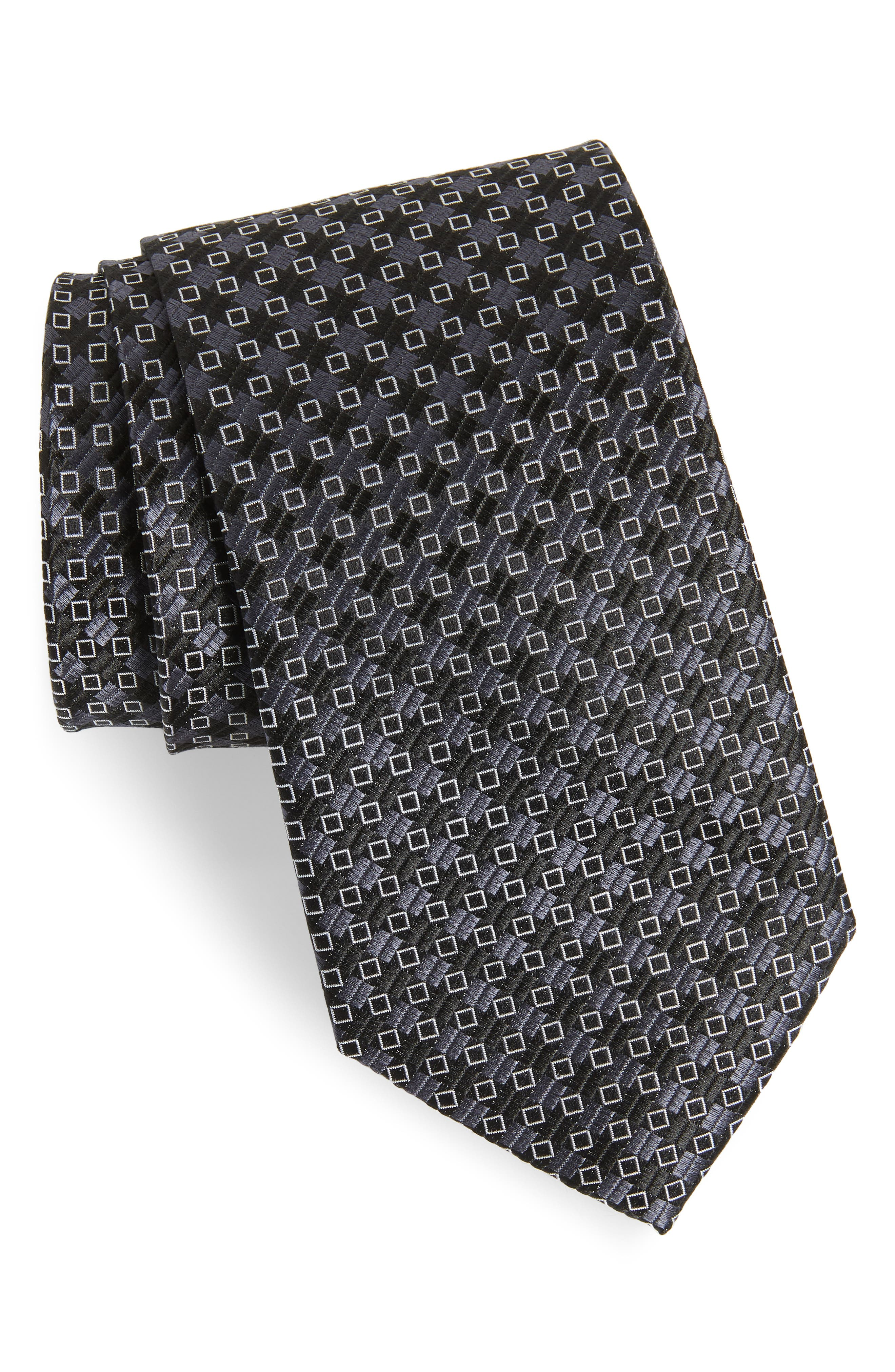 Middletown Geometric Silk Tie,                             Main thumbnail 1, color,                             001