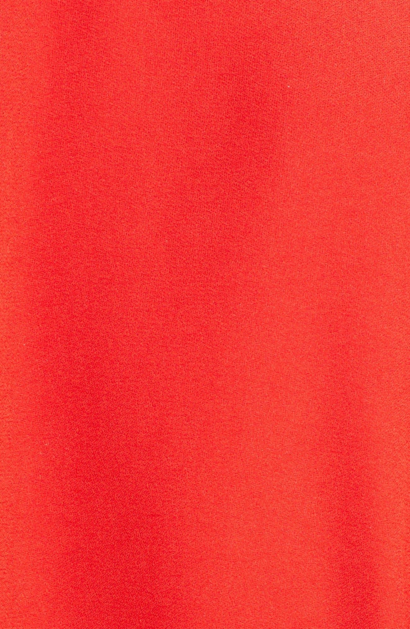 Cape Sleeve Satin Crepe Gown,                             Alternate thumbnail 5, color,                             624