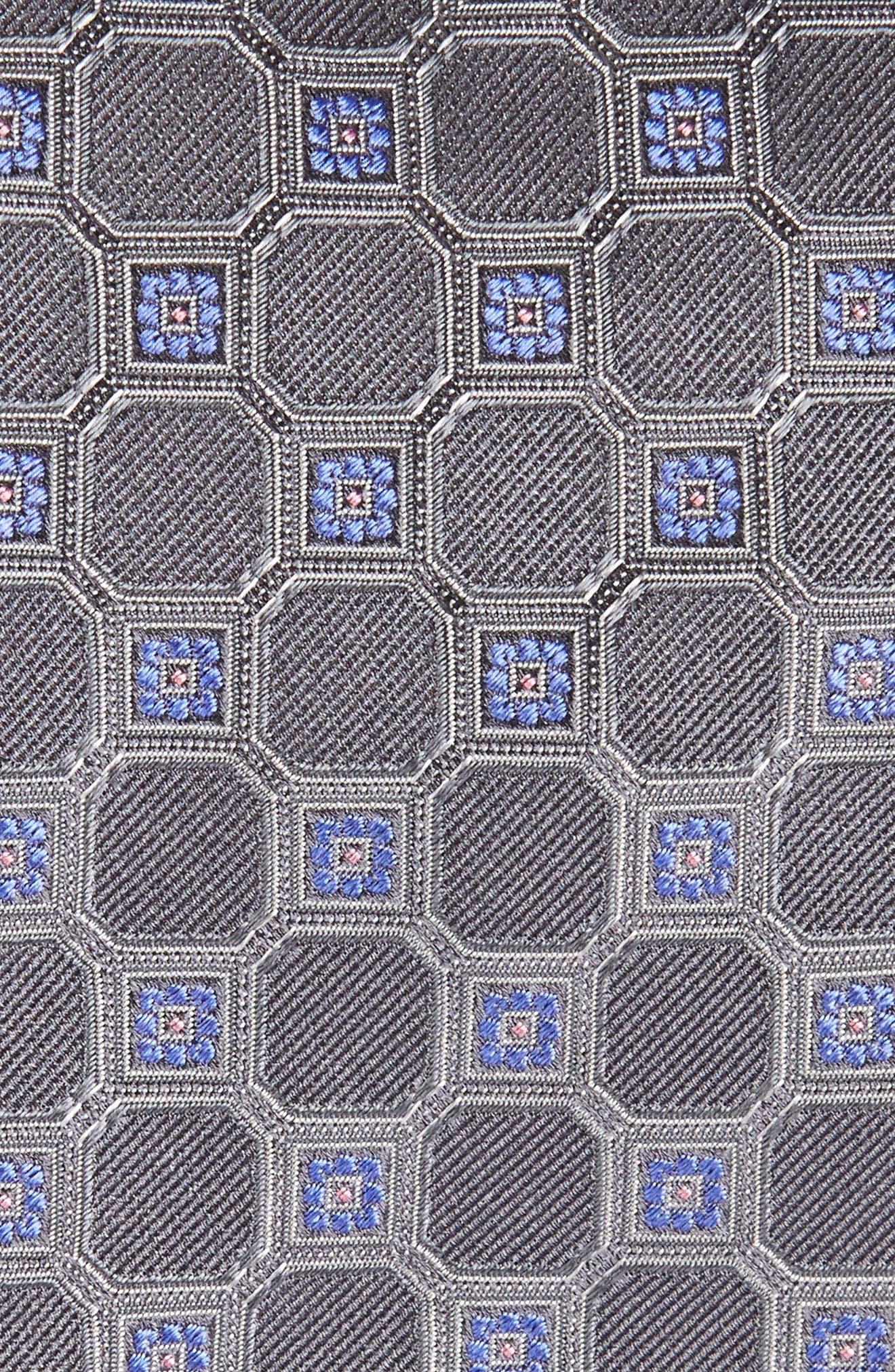 Medallion Silk Tie,                             Alternate thumbnail 2, color,                             020