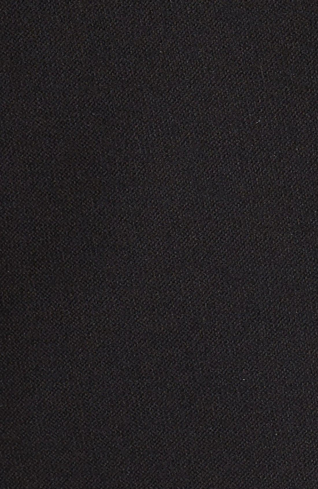 Washable Stretch Crepe Jacket,                             Alternate thumbnail 6, color,                             BLACK