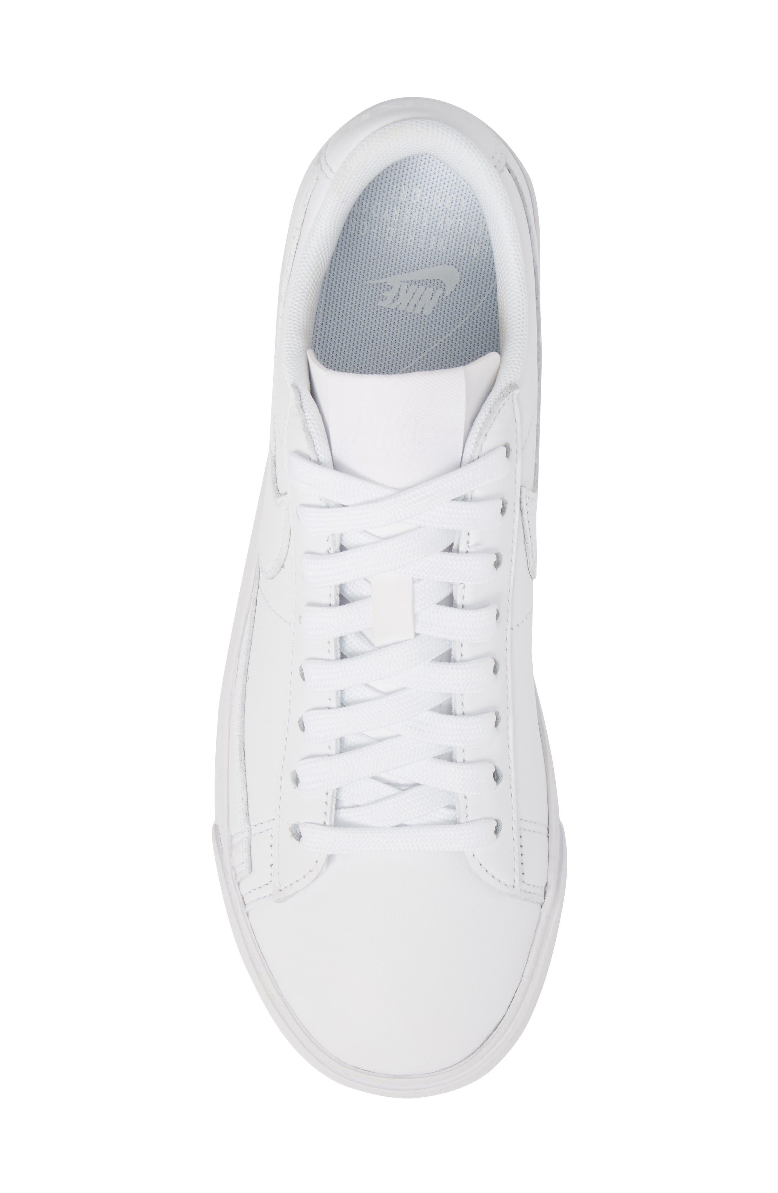 Blazer Low LE Sneaker,                             Alternate thumbnail 5, color,                             WHITE/ WHITE-WHITE