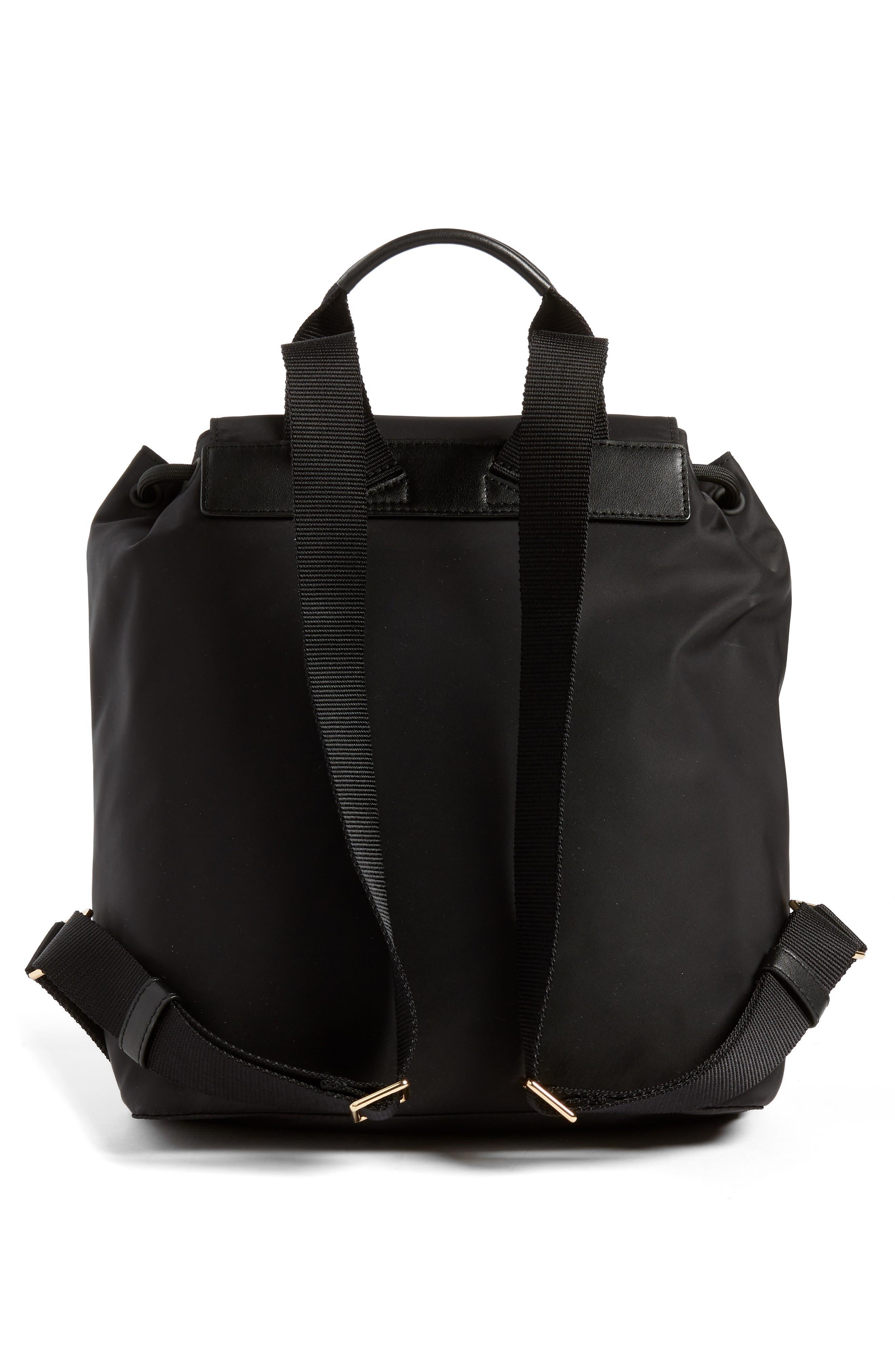 Tilda Nylon Backpack,                             Alternate thumbnail 3, color,                             BLACK