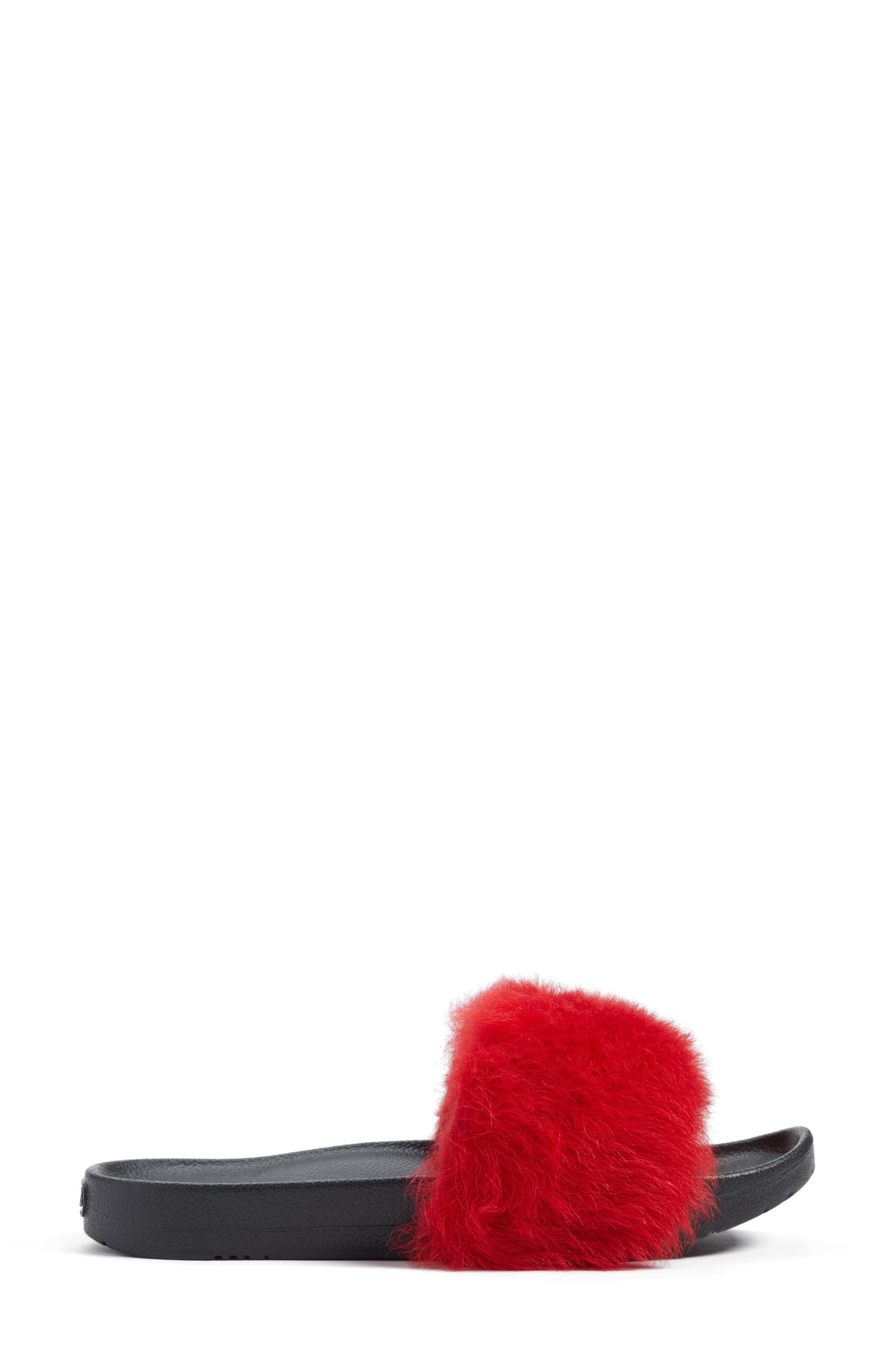 Royale Genuine Shearling Slide Sandal,                             Alternate thumbnail 3, color,                             627