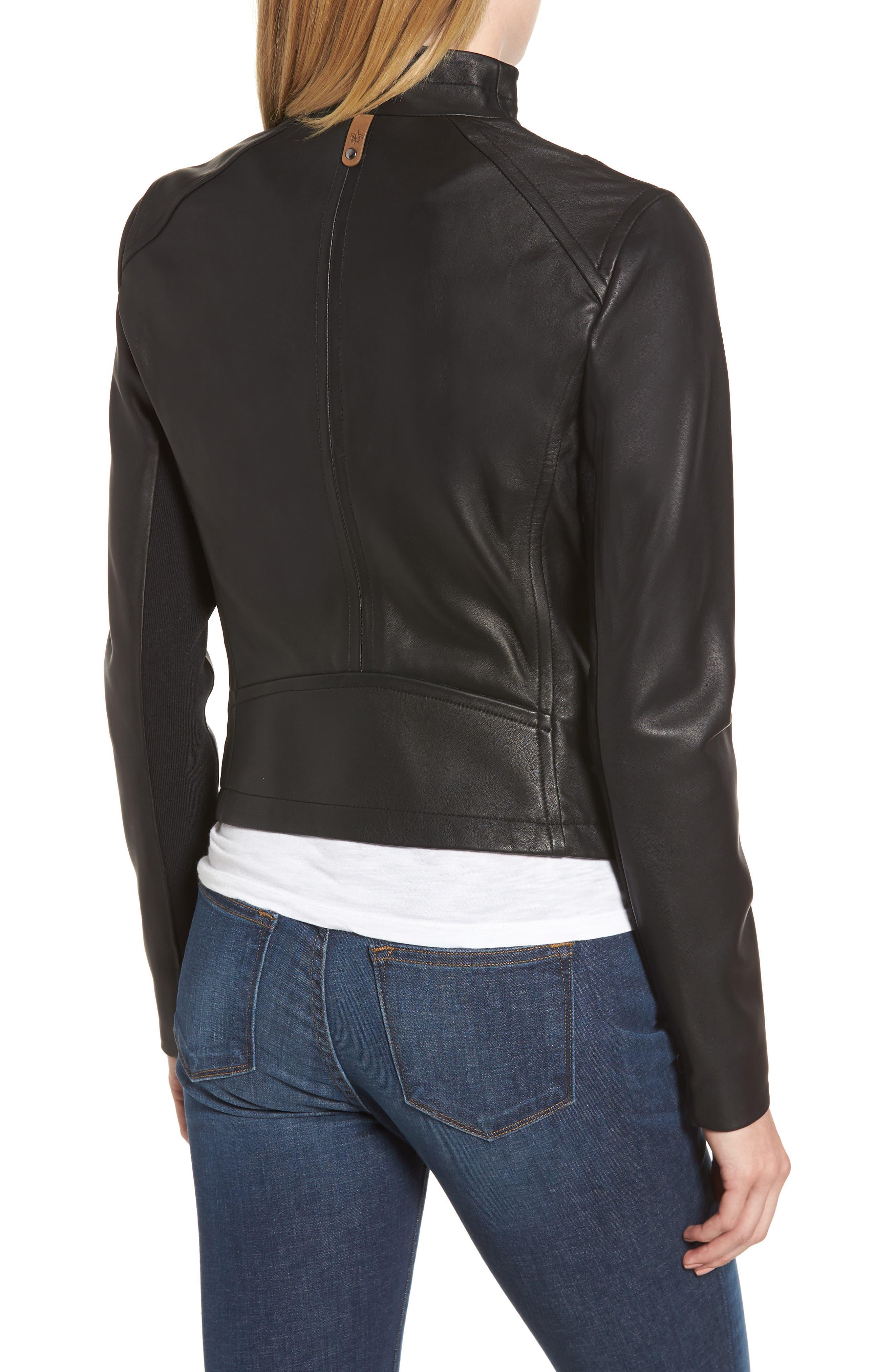 MACKAGE,                             Pina-L Leather Moto Jacket,                             Alternate thumbnail 2, color,                             001