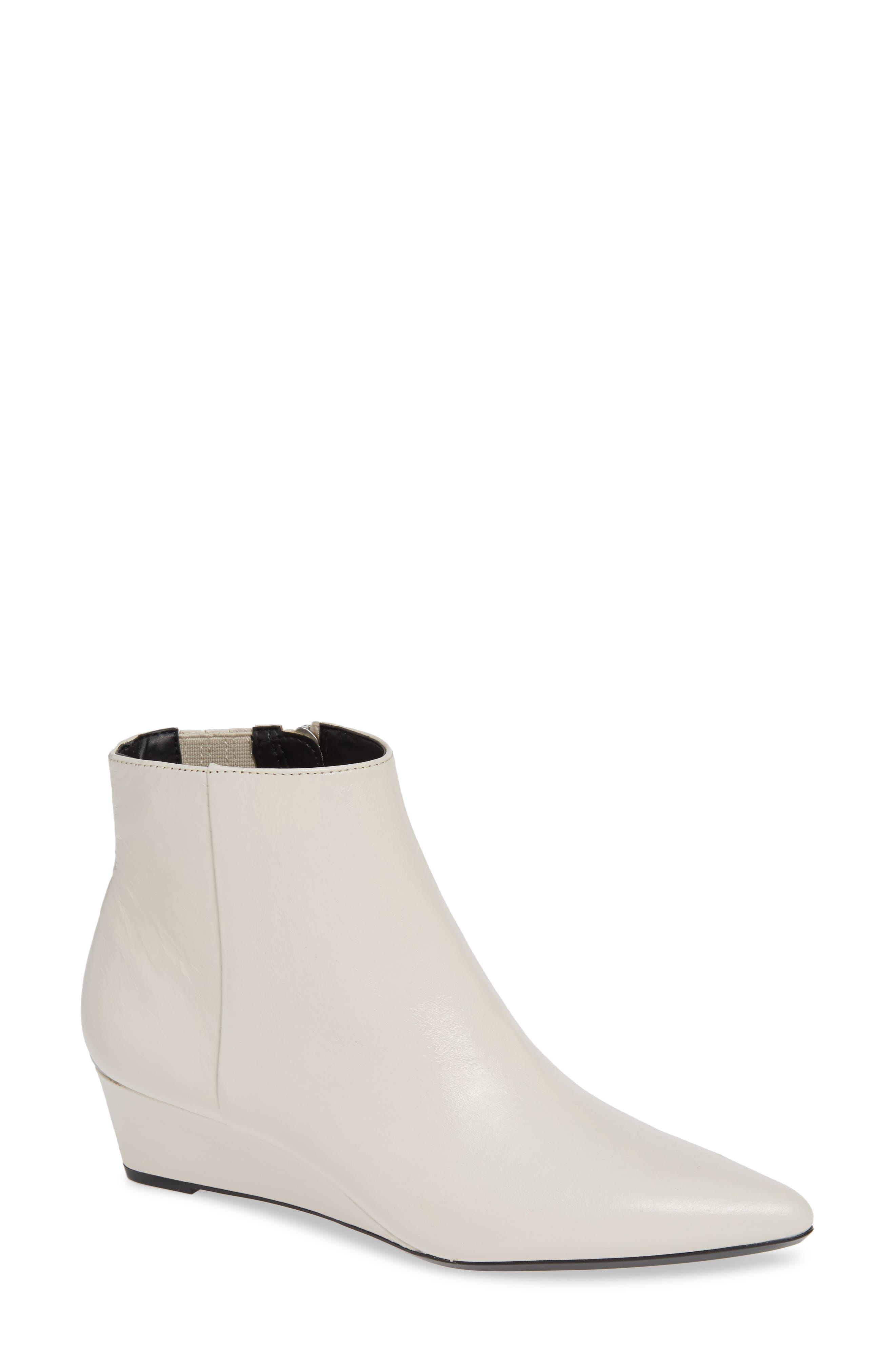 Calvin Klein Gael Wedge Bootie, White