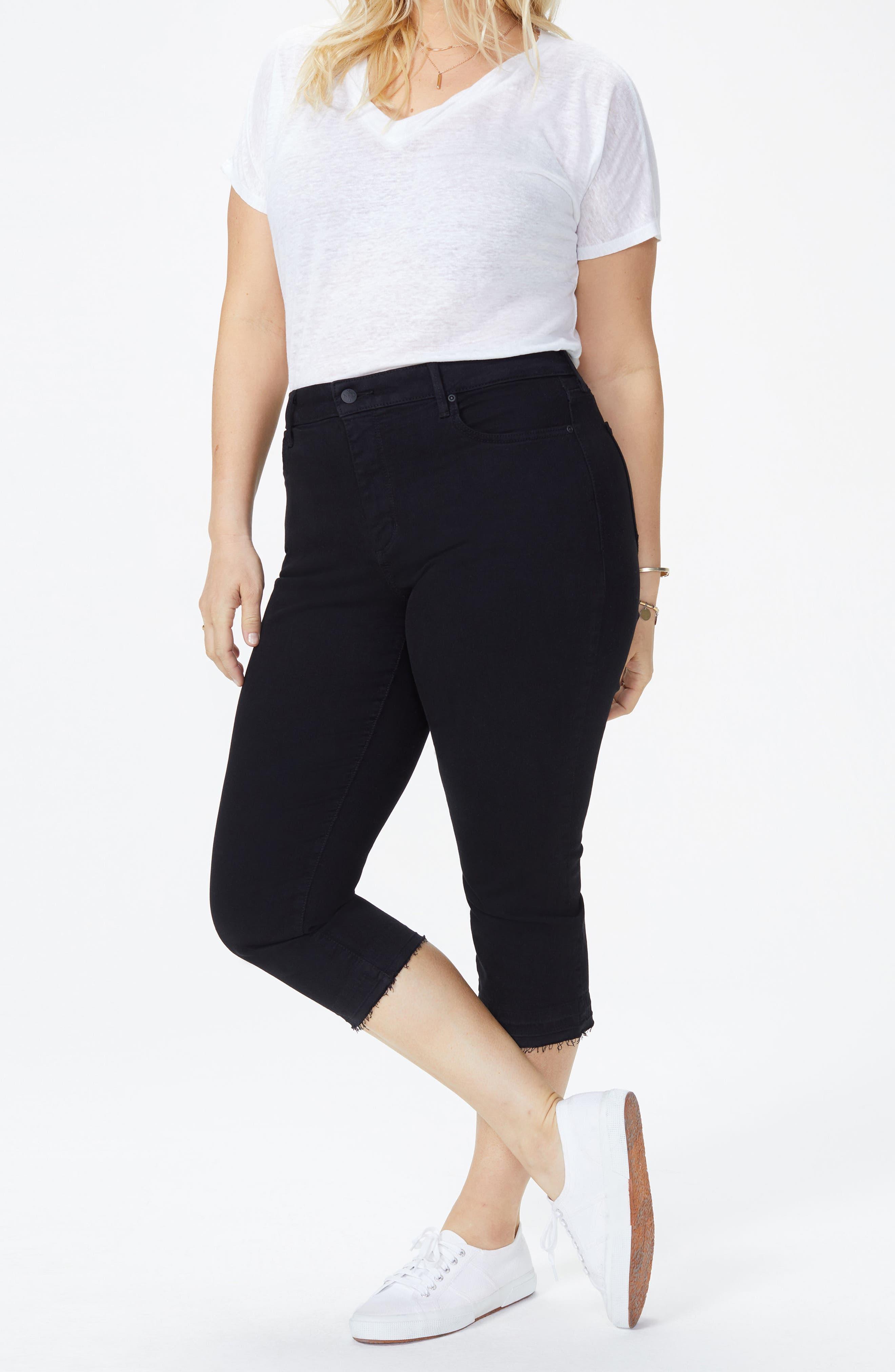 Release Hem Skinny Jeans,                             Alternate thumbnail 4, color,                             BLACK
