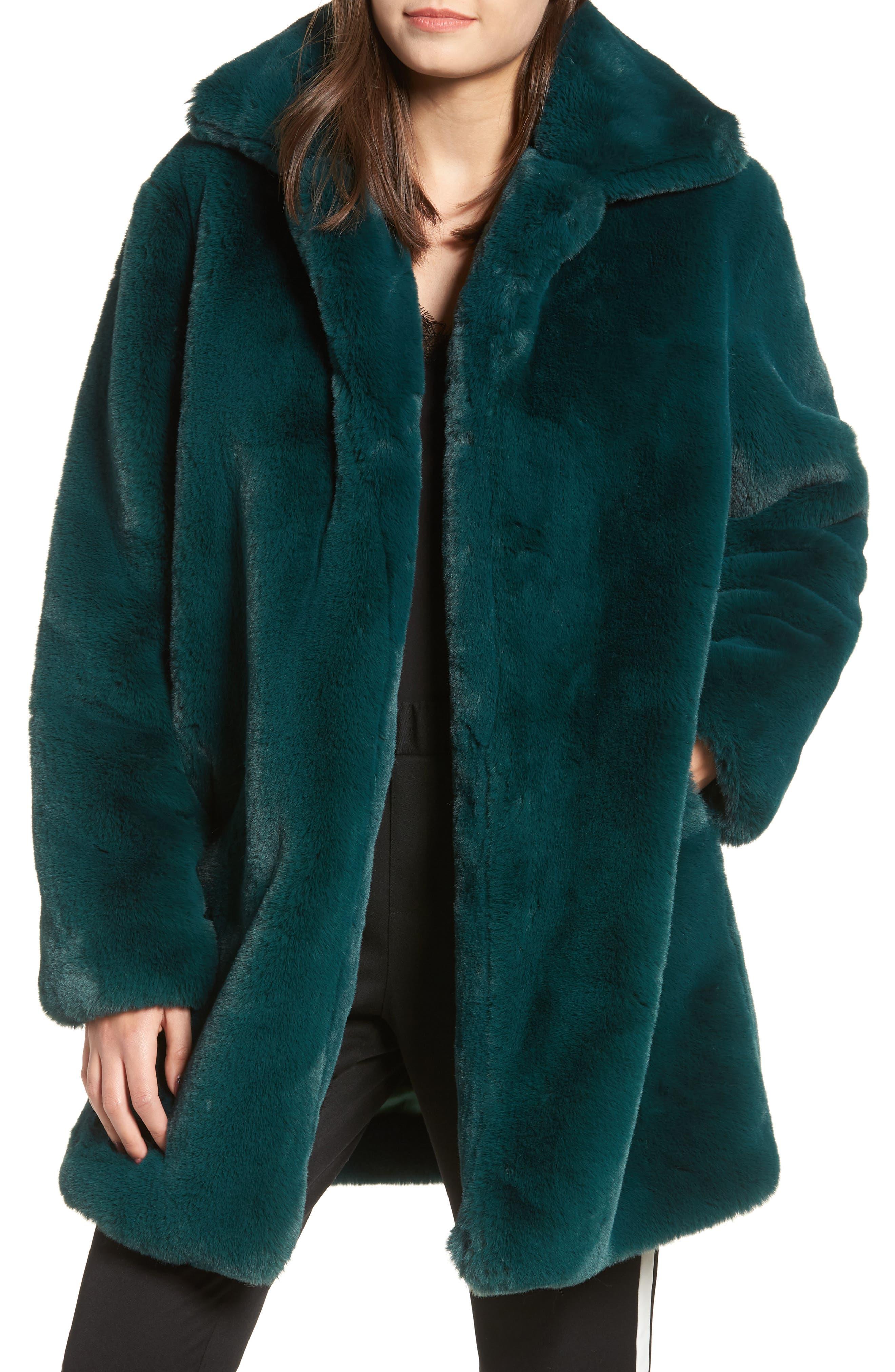 Dreaming Faux Fur Coat,                             Main thumbnail 1, color,                             300