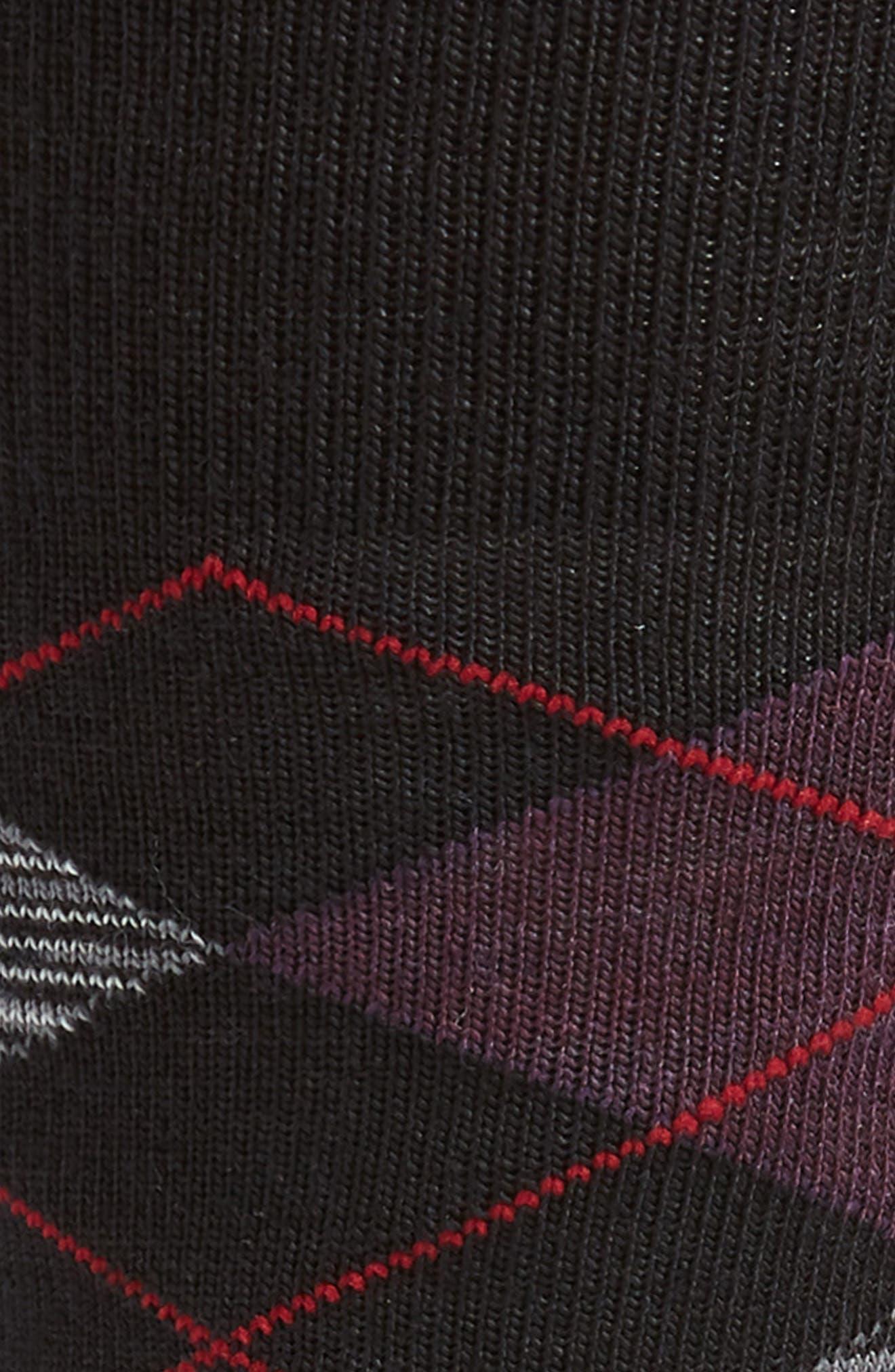 Diamond Jim Argyle Socks,                             Alternate thumbnail 2, color,                             BLACK SPACE DYE